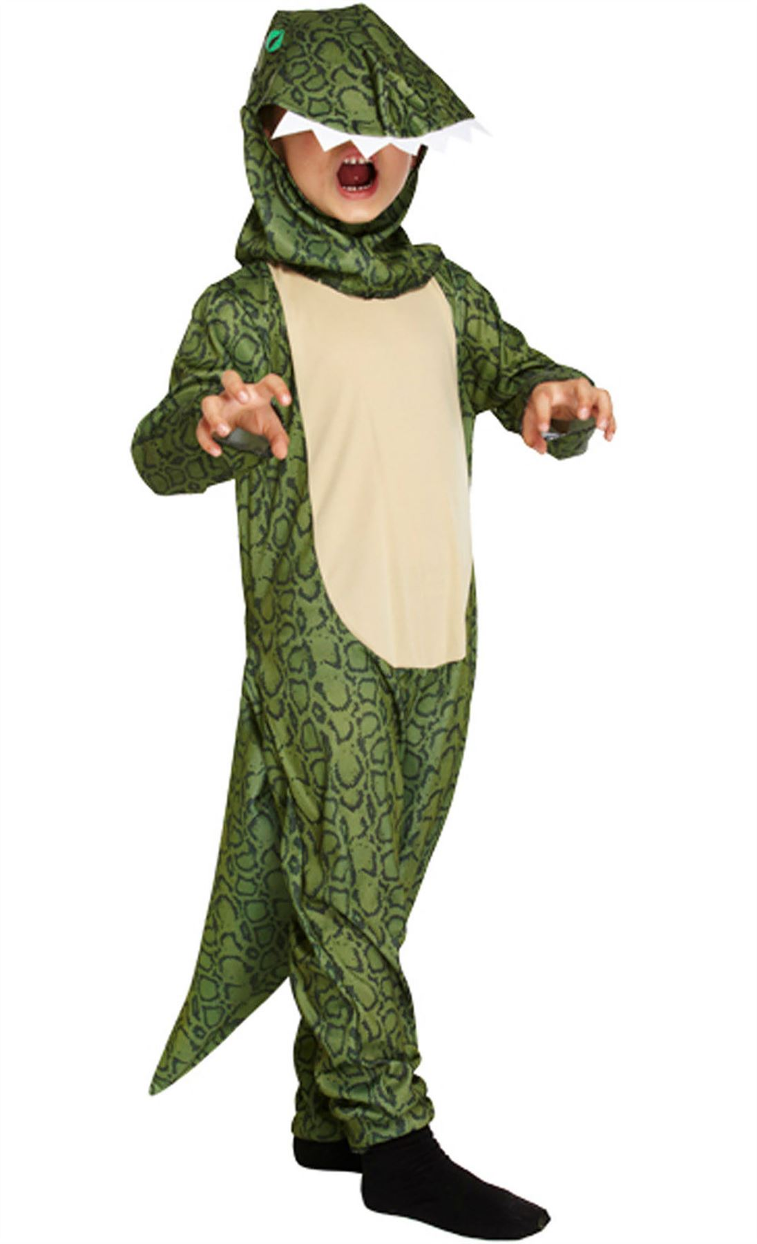 Childrens-Dinosaur-Costume-Jumpsuit-Kids-Fancy-Dress-Animal-  sc 1 st  eBay & Childrens Dinosaur Costume Jumpsuit Kids Fancy Dress Animal Theme ...