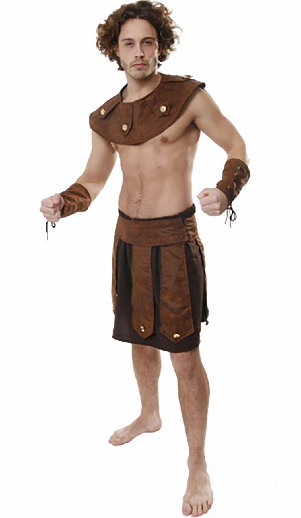 Para hombre Griego Soldado Romano Soldado Griego conjunto Retro Adultos Disfraz elaborado Stag Do desgaste del partido f7b493
