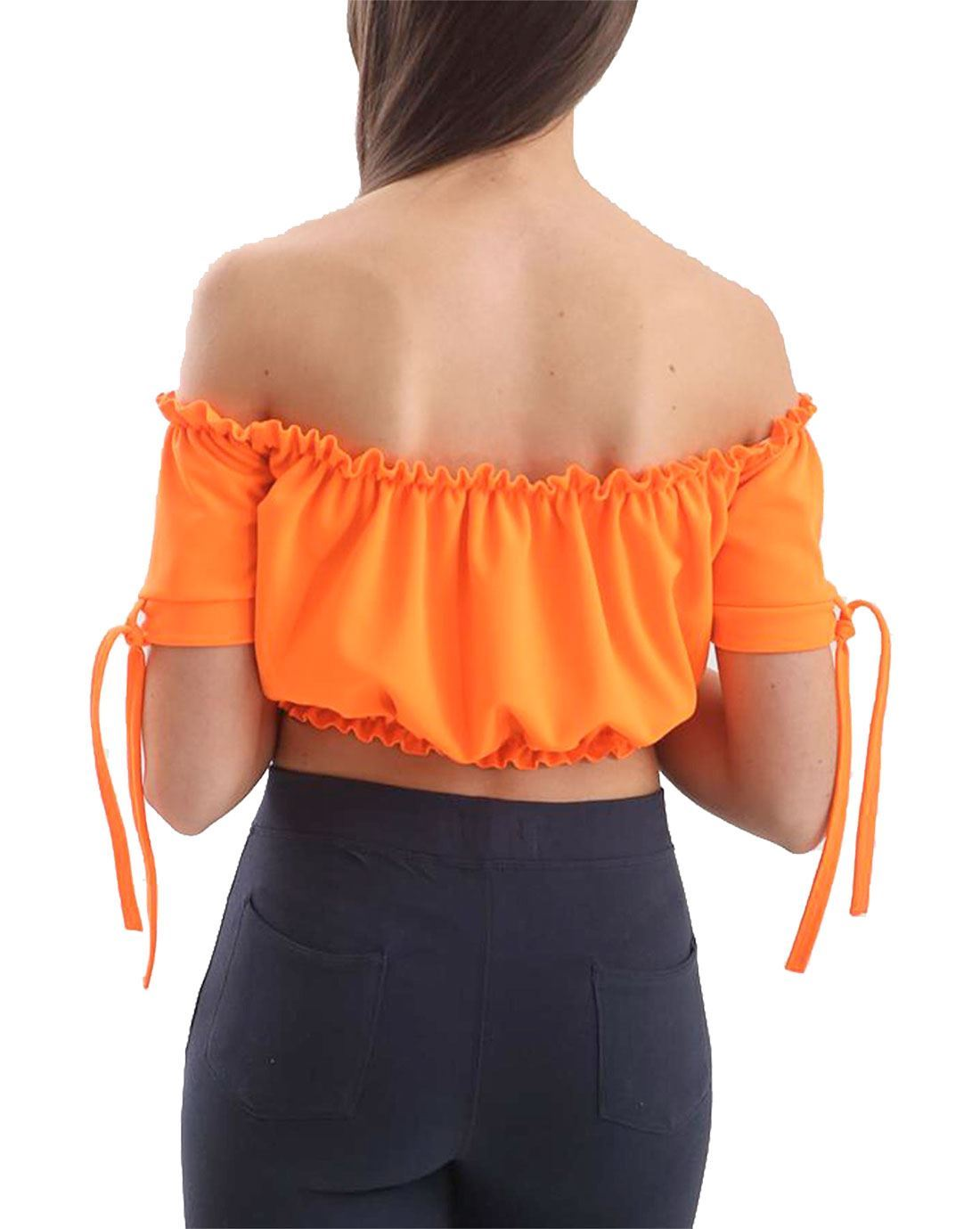 Ladies Womens Celebrity Off Shoulder 3//4 Sleeve Gypsy Blouse Top Plain Bardot
