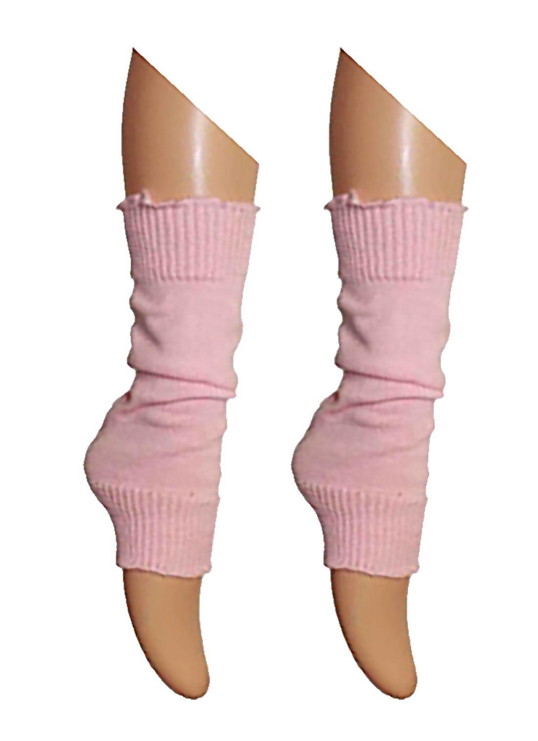Womens Plain Leg Warmers Ladies 80s Theme Party Costume Fancy Dress ...