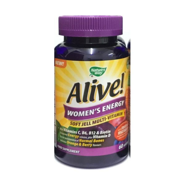Details about Alive! Women'S Energy Multi-Vitamin Soft Jell 60 (3 Pack)