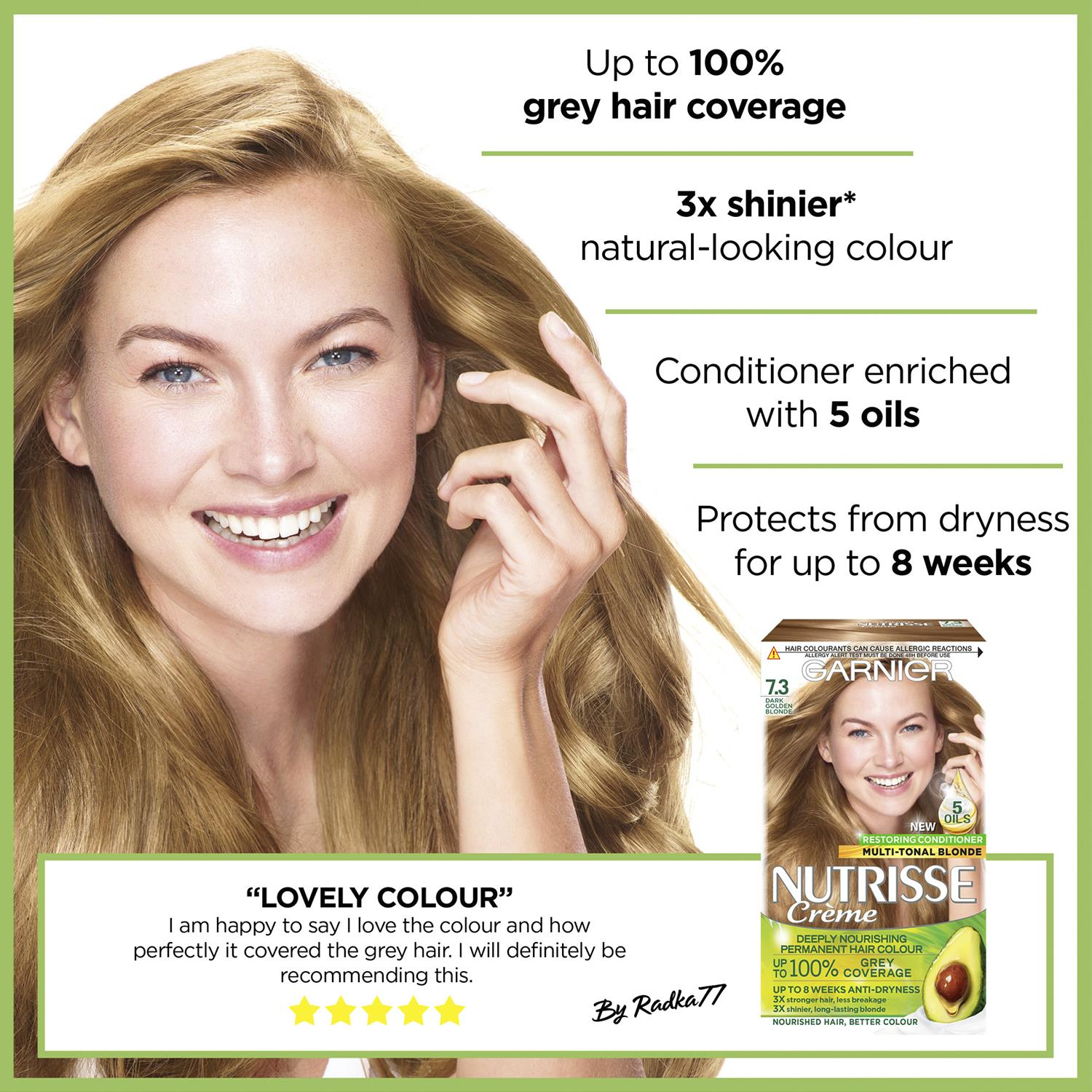 thumbnail 235 - 3 Pack Garnier Nutrisse Permanent Hair Dye With Different Shades
