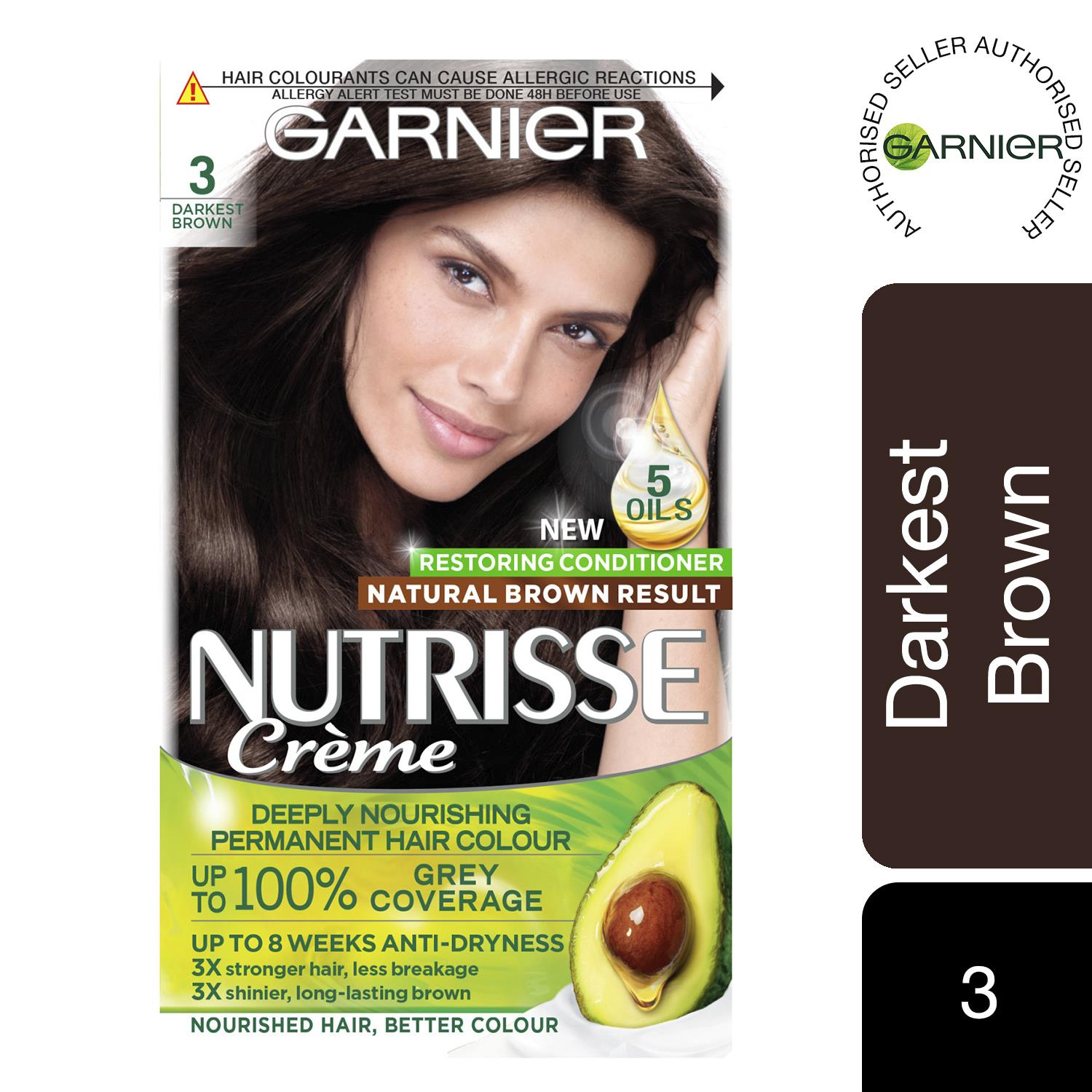 thumbnail 30 - 3 Pack Garnier Nutrisse Permanent Hair Dye With Different Shades