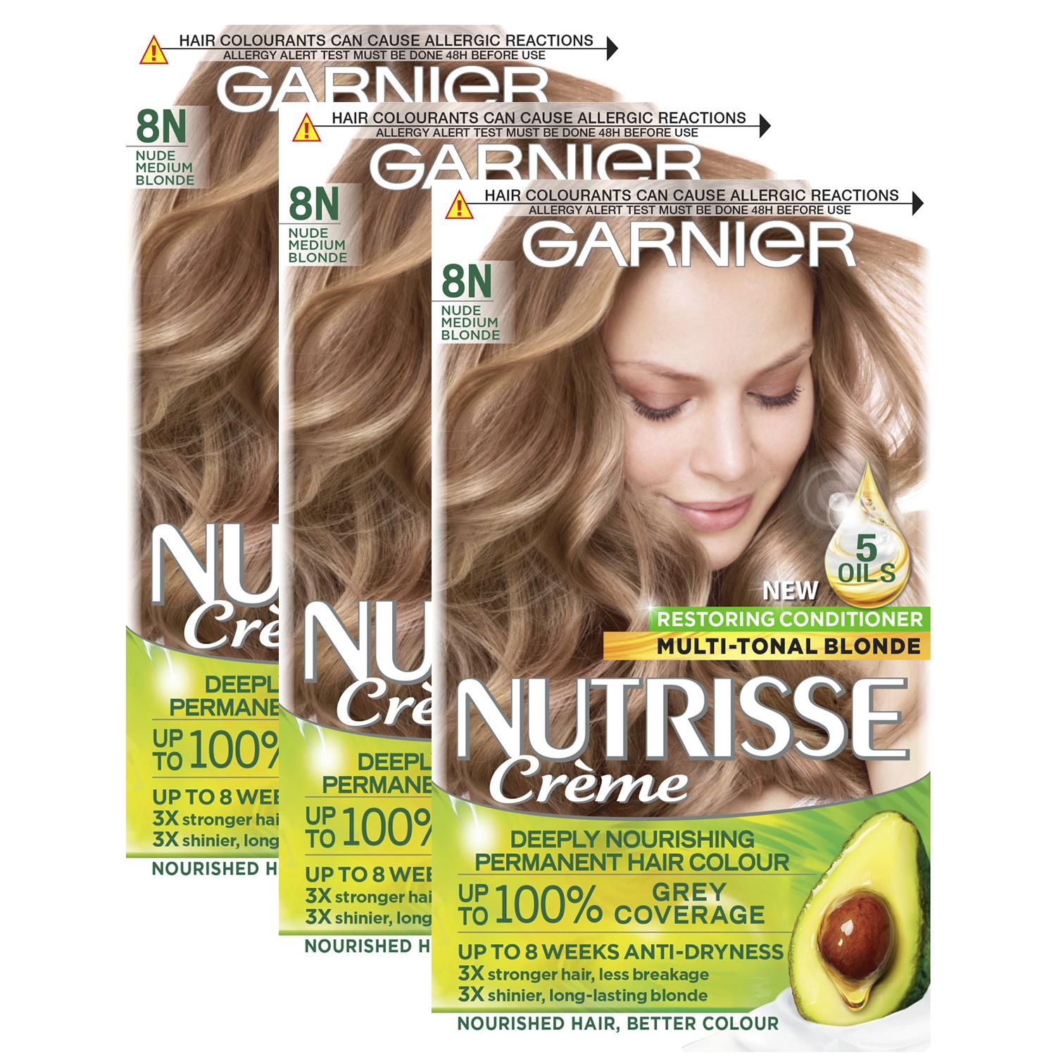 thumbnail 275 - 3 Pack Garnier Nutrisse Permanent Hair Dye With Different Shades