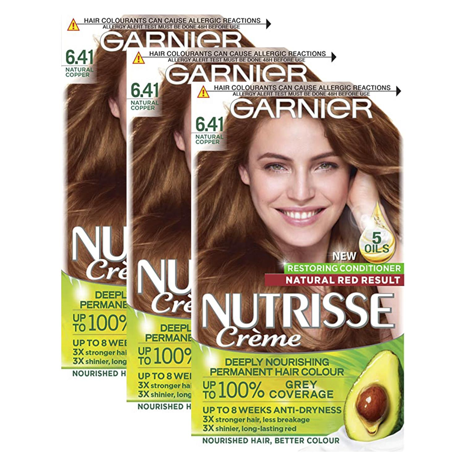 thumbnail 200 - 3 Pack Garnier Nutrisse Permanent Hair Dye With Different Shades