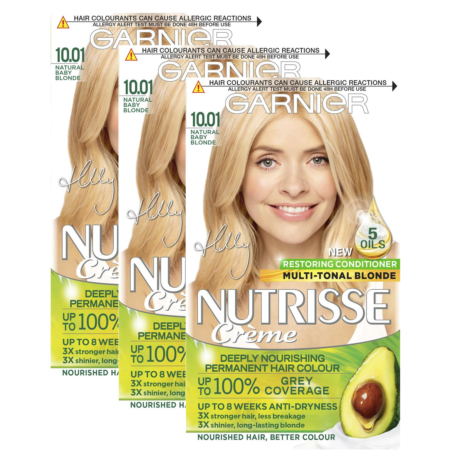 thumbnail 291 - 3 Pack Garnier Nutrisse Permanent Hair Dye With Different Shades