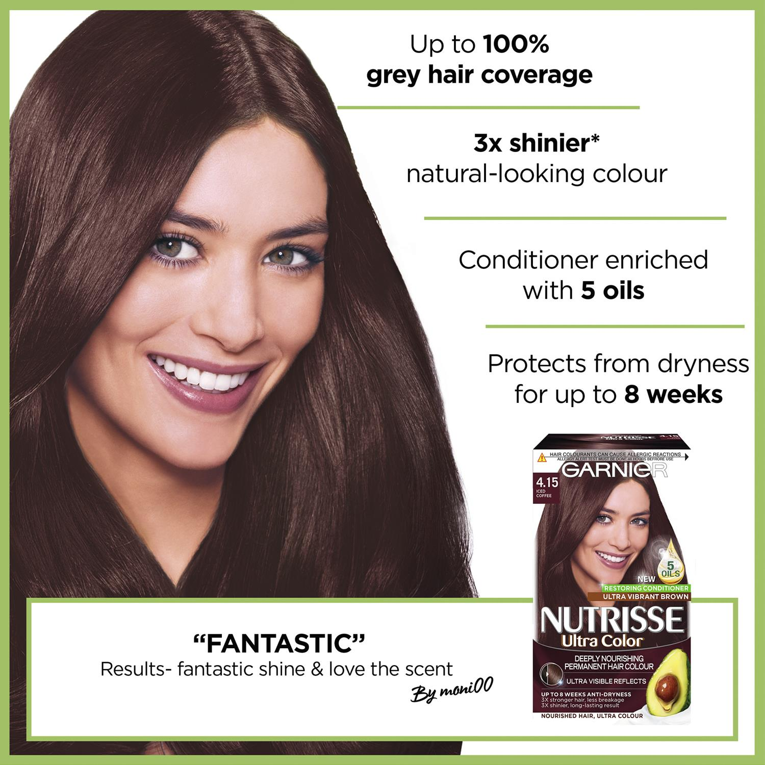 thumbnail 106 - 3 Pack Garnier Nutrisse Permanent Hair Dye With Different Shades