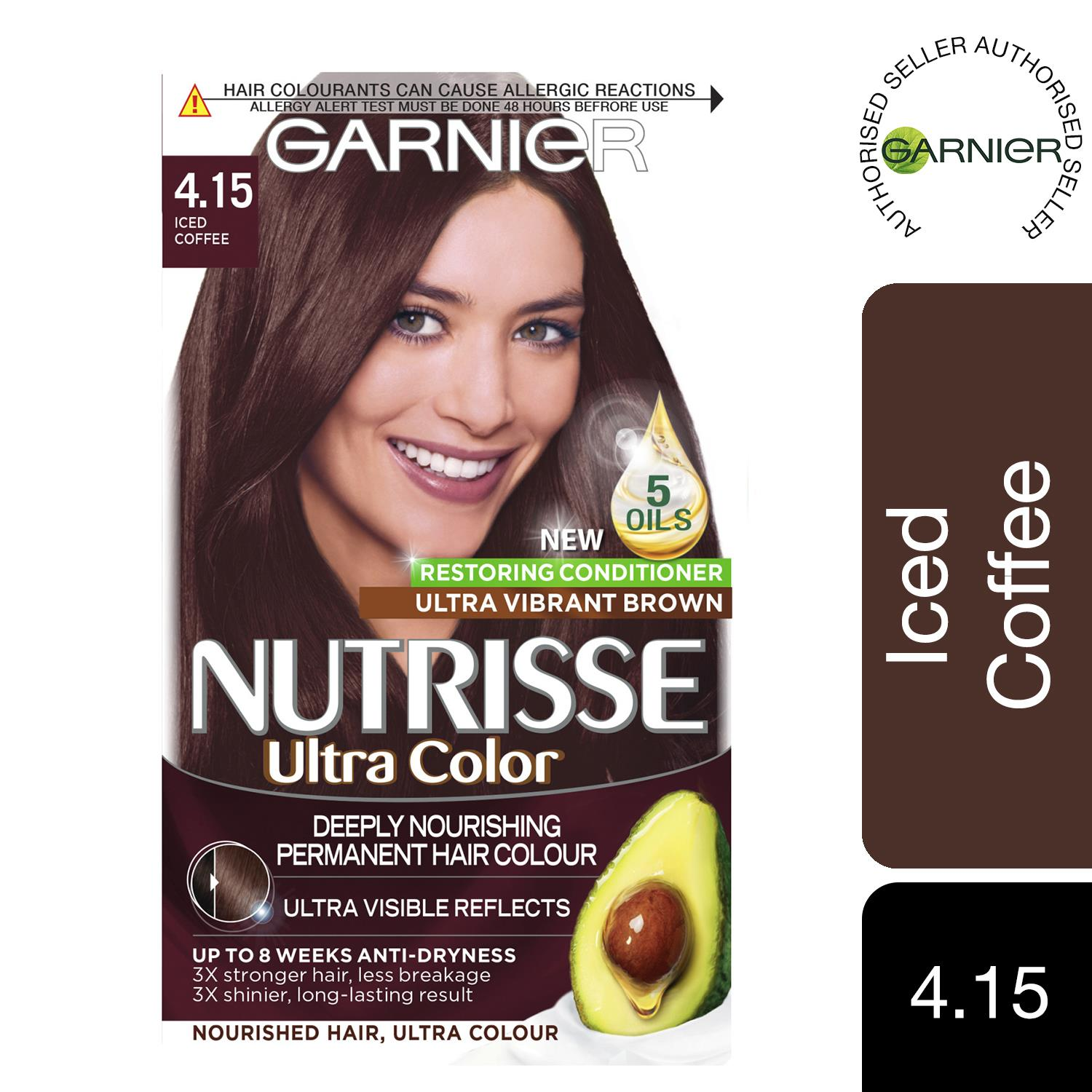thumbnail 103 - 3 Pack Garnier Nutrisse Permanent Hair Dye With Different Shades