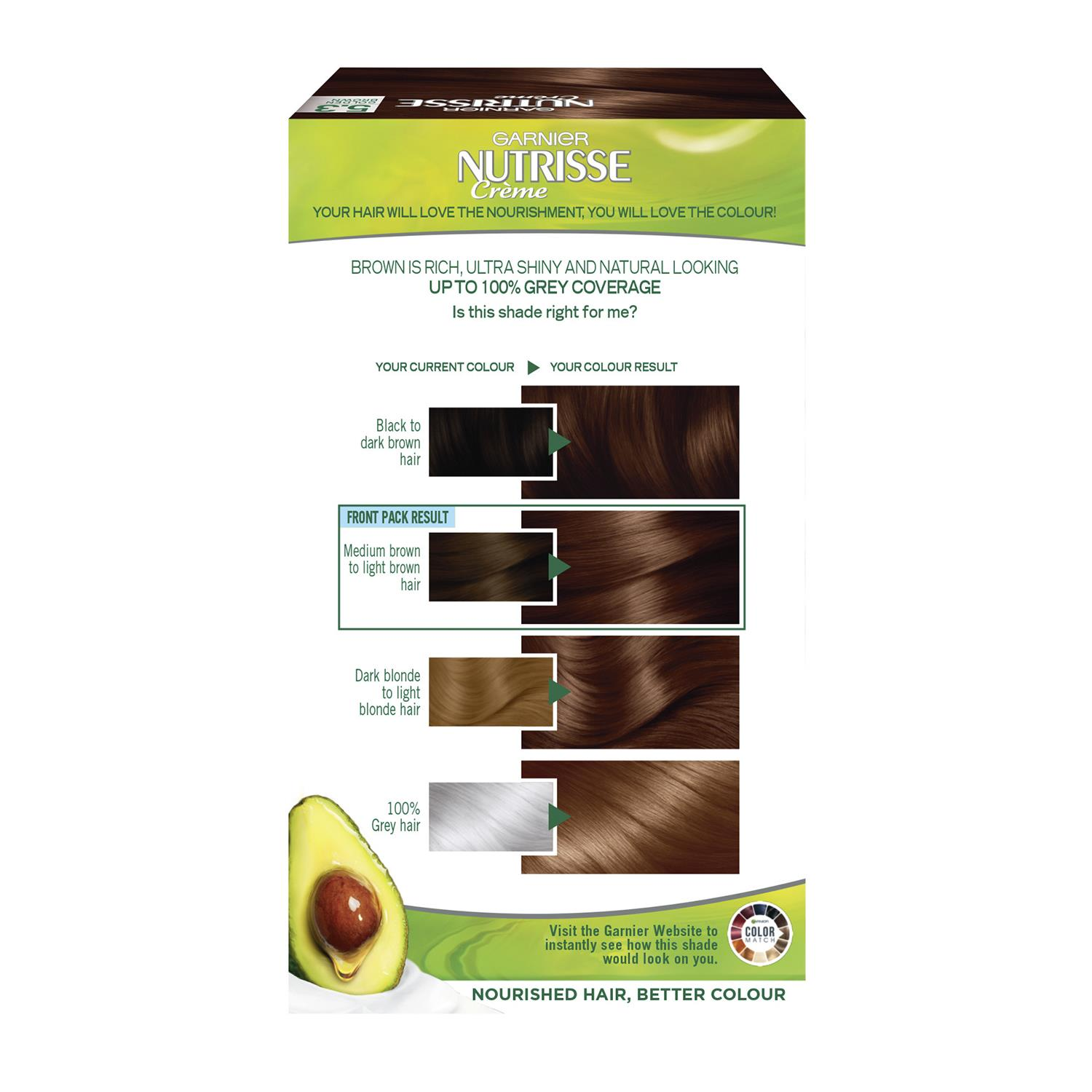 thumbnail 130 - 3 Pack Garnier Nutrisse Permanent Hair Dye With Different Shades