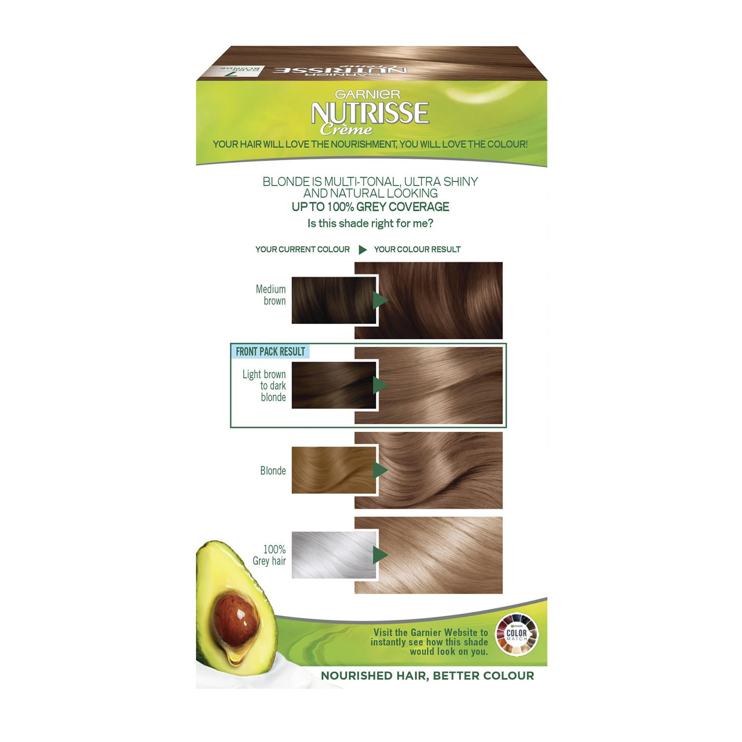 thumbnail 224 - 3 Pack Garnier Nutrisse Permanent Hair Dye With Different Shades