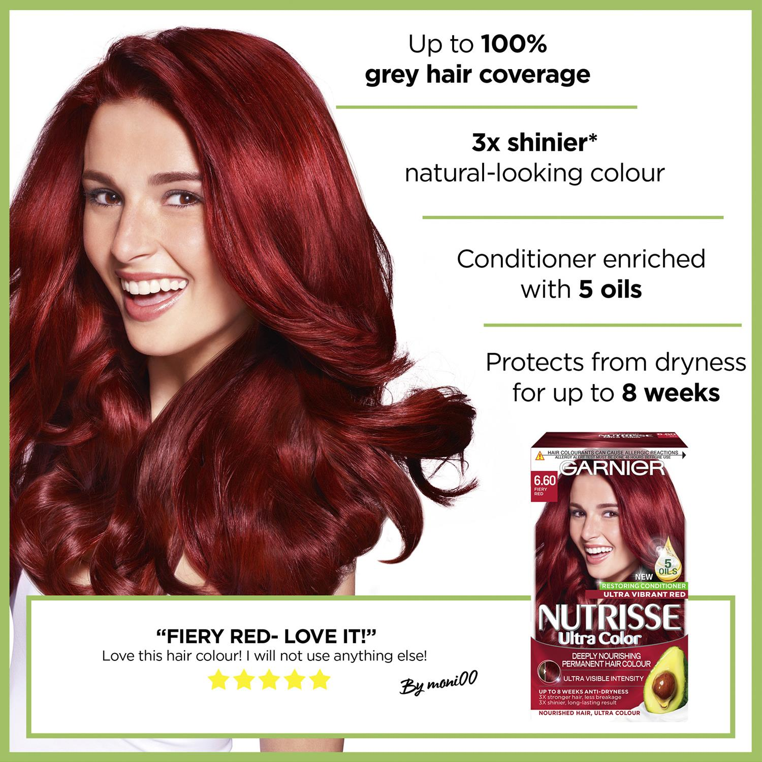 thumbnail 211 - 3 Pack Garnier Nutrisse Permanent Hair Dye With Different Shades