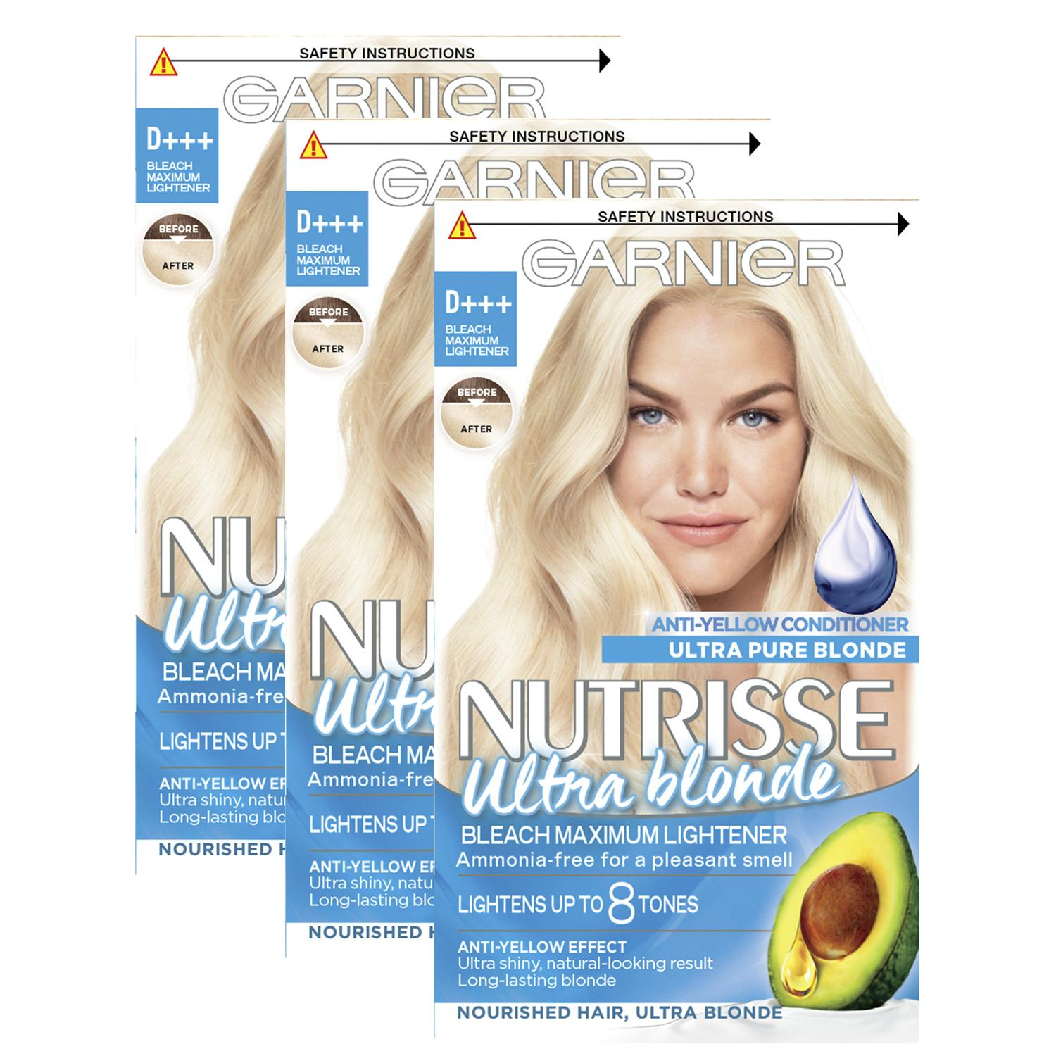 thumbnail 314 - 3 Pack Garnier Nutrisse Permanent Hair Dye With Different Shades