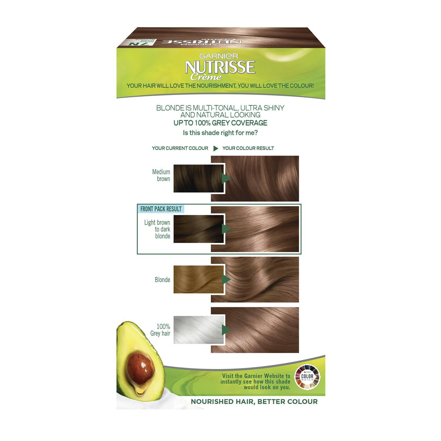 thumbnail 247 - 3 Pack Garnier Nutrisse Permanent Hair Dye With Different Shades