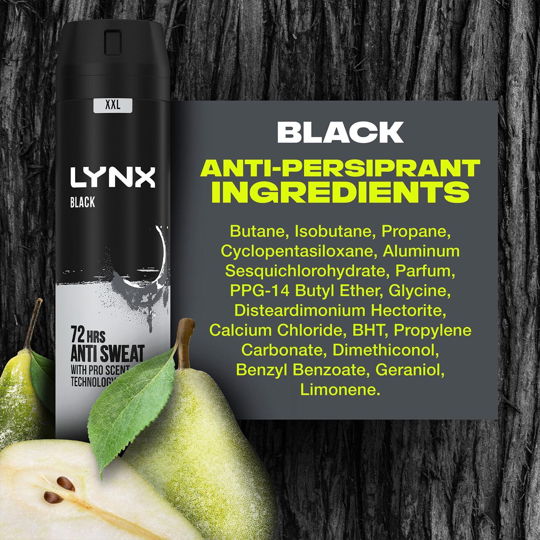 thumbnail 29 - 6 Pack Lynx XXL 72-Hour Sweat Protection Anti-Perspirant Deodorant, 250ml