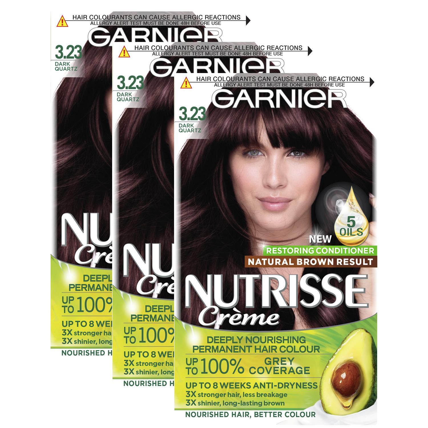 thumbnail 55 - 3 Pack Garnier Nutrisse Permanent Hair Dye With Different Shades