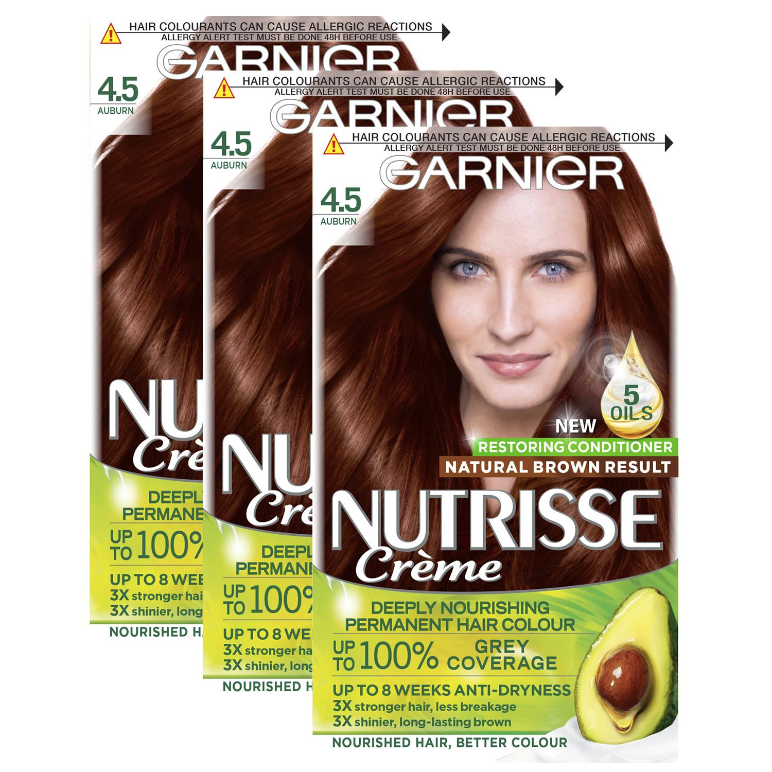 thumbnail 88 - 3 Pack Garnier Nutrisse Permanent Hair Dye With Different Shades
