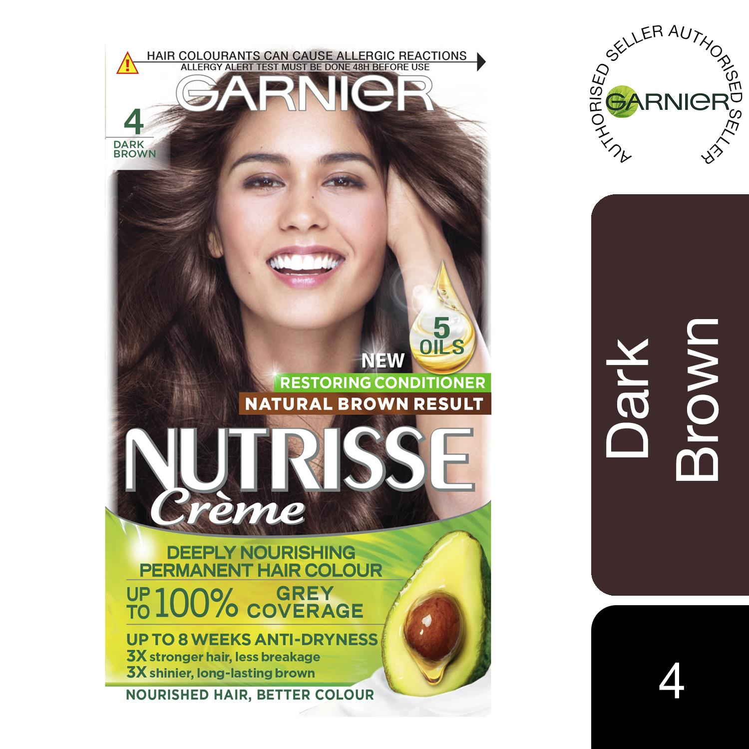 thumbnail 70 - 3 Pack Garnier Nutrisse Permanent Hair Dye With Different Shades
