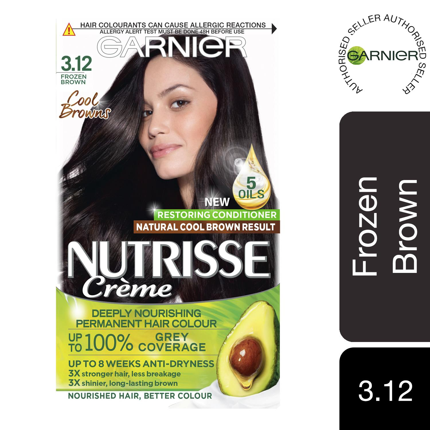 thumbnail 46 - 3 Pack Garnier Nutrisse Permanent Hair Dye With Different Shades