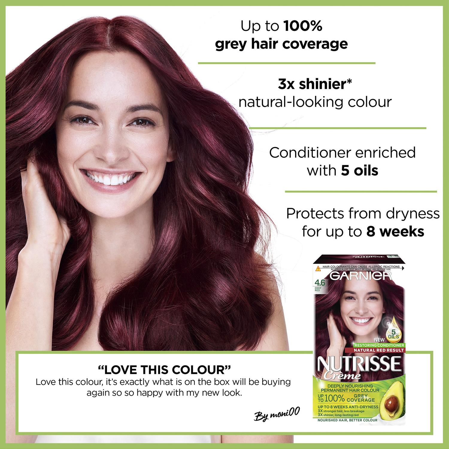 thumbnail 101 - 3 Pack Garnier Nutrisse Permanent Hair Dye With Different Shades