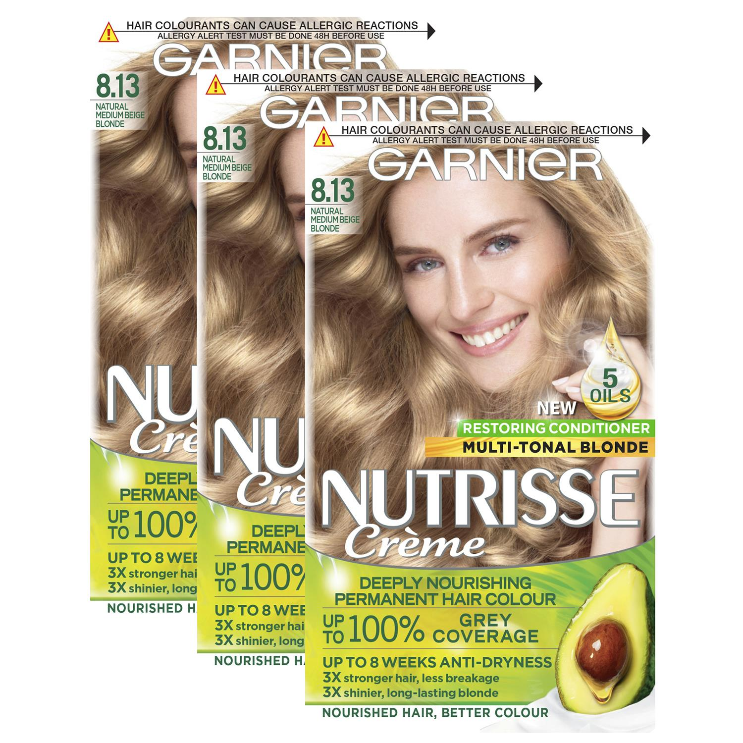 thumbnail 260 - 3 Pack Garnier Nutrisse Permanent Hair Dye With Different Shades