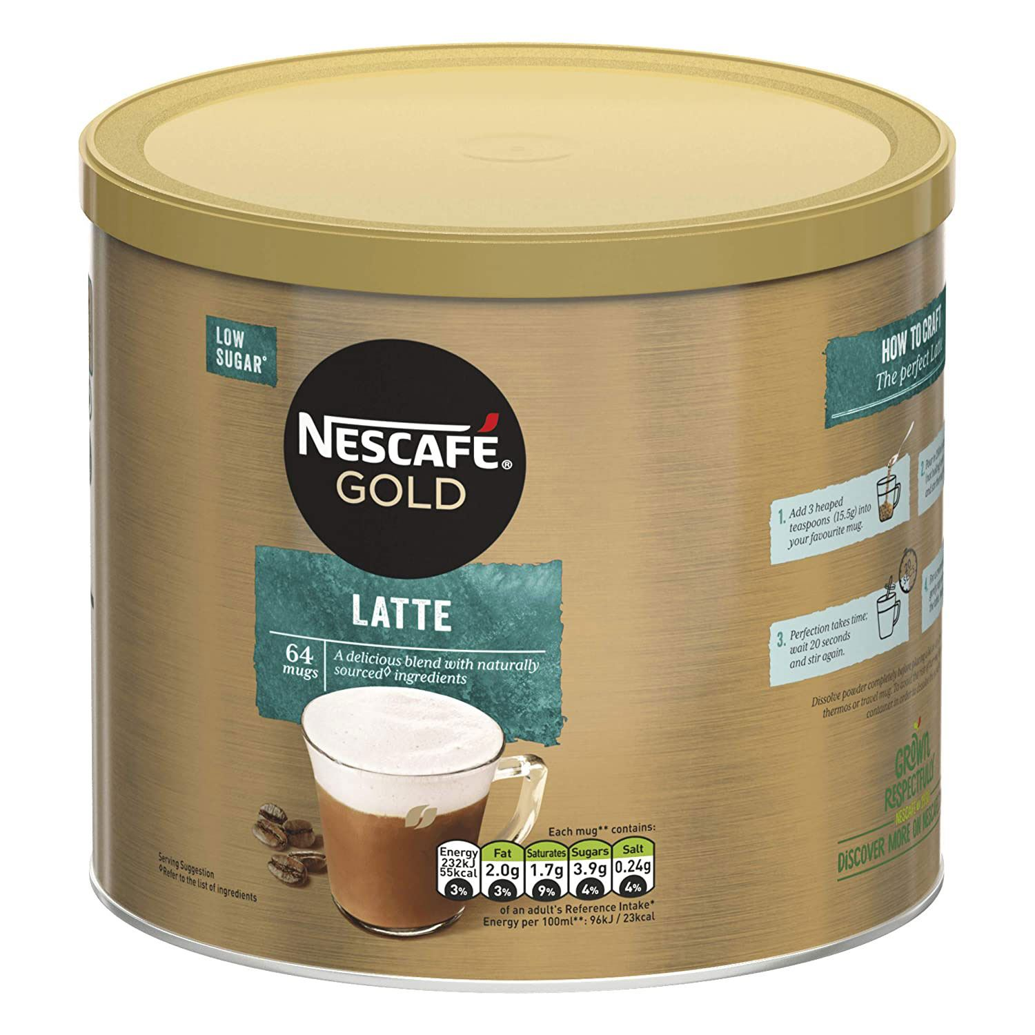 thumbnail 19 - Nescafe Gold Instant Coffee Granules 1kg Cappuccino or Latte, Low Sugar