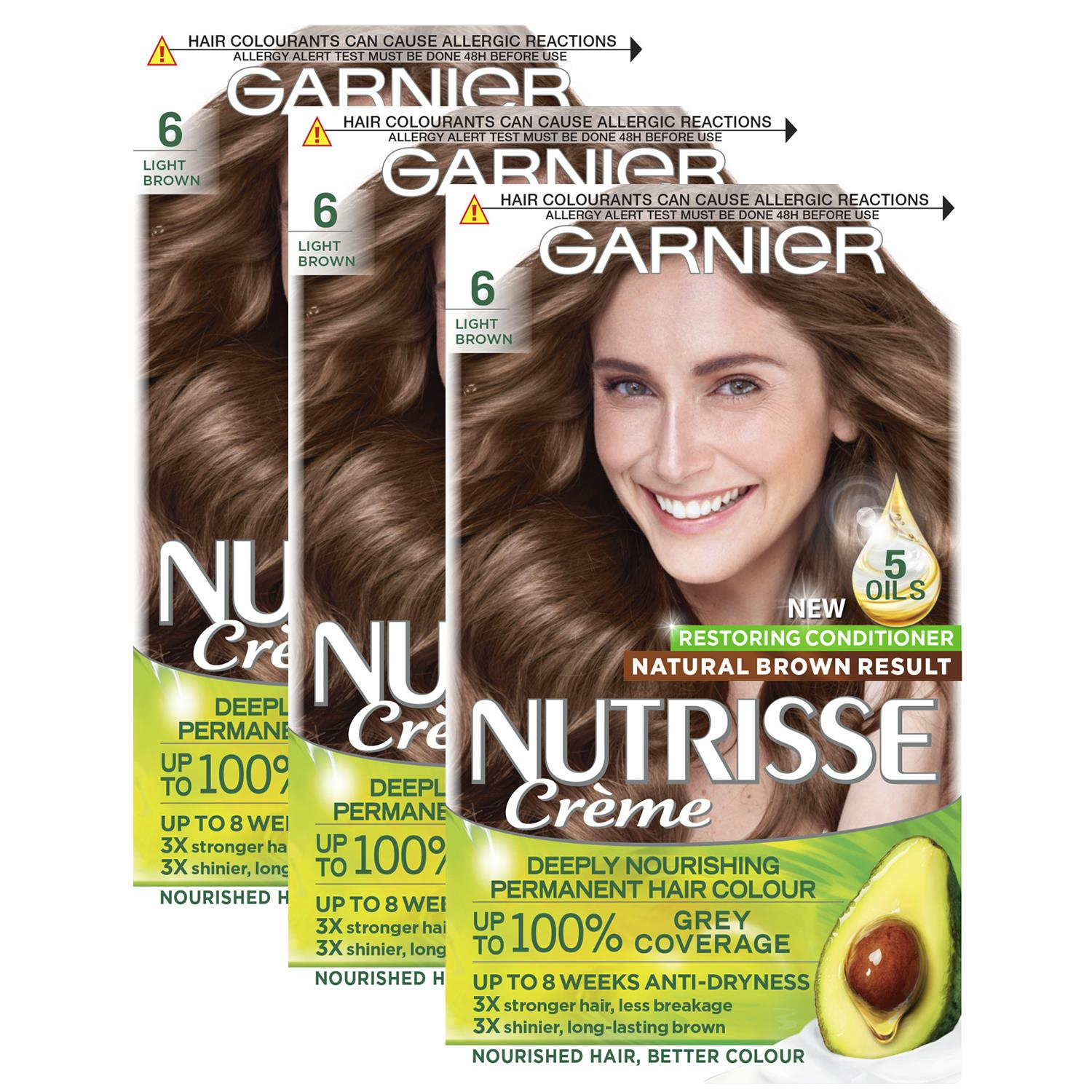 thumbnail 168 - 3 Pack Garnier Nutrisse Permanent Hair Dye With Different Shades
