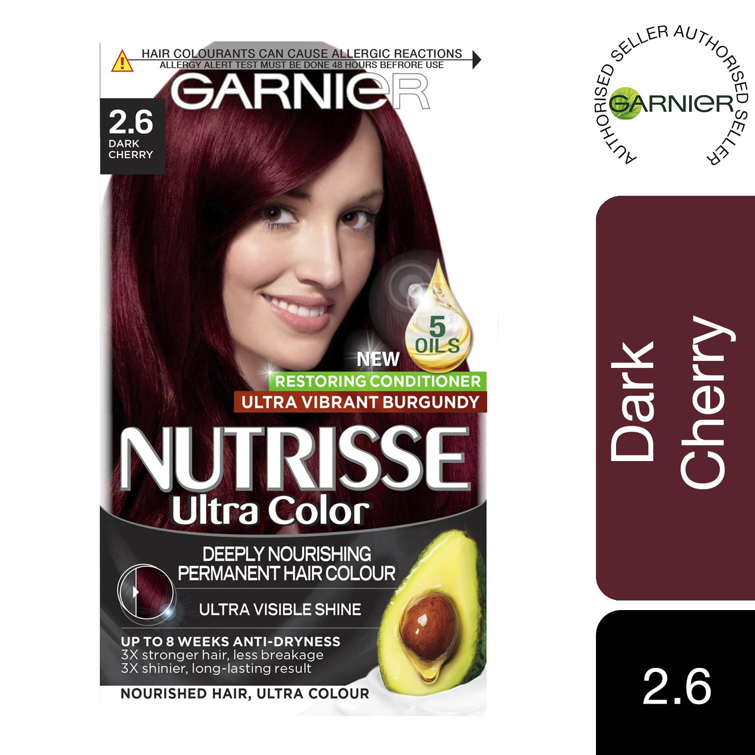 thumbnail 22 - 3 Pack Garnier Nutrisse Permanent Hair Dye With Different Shades