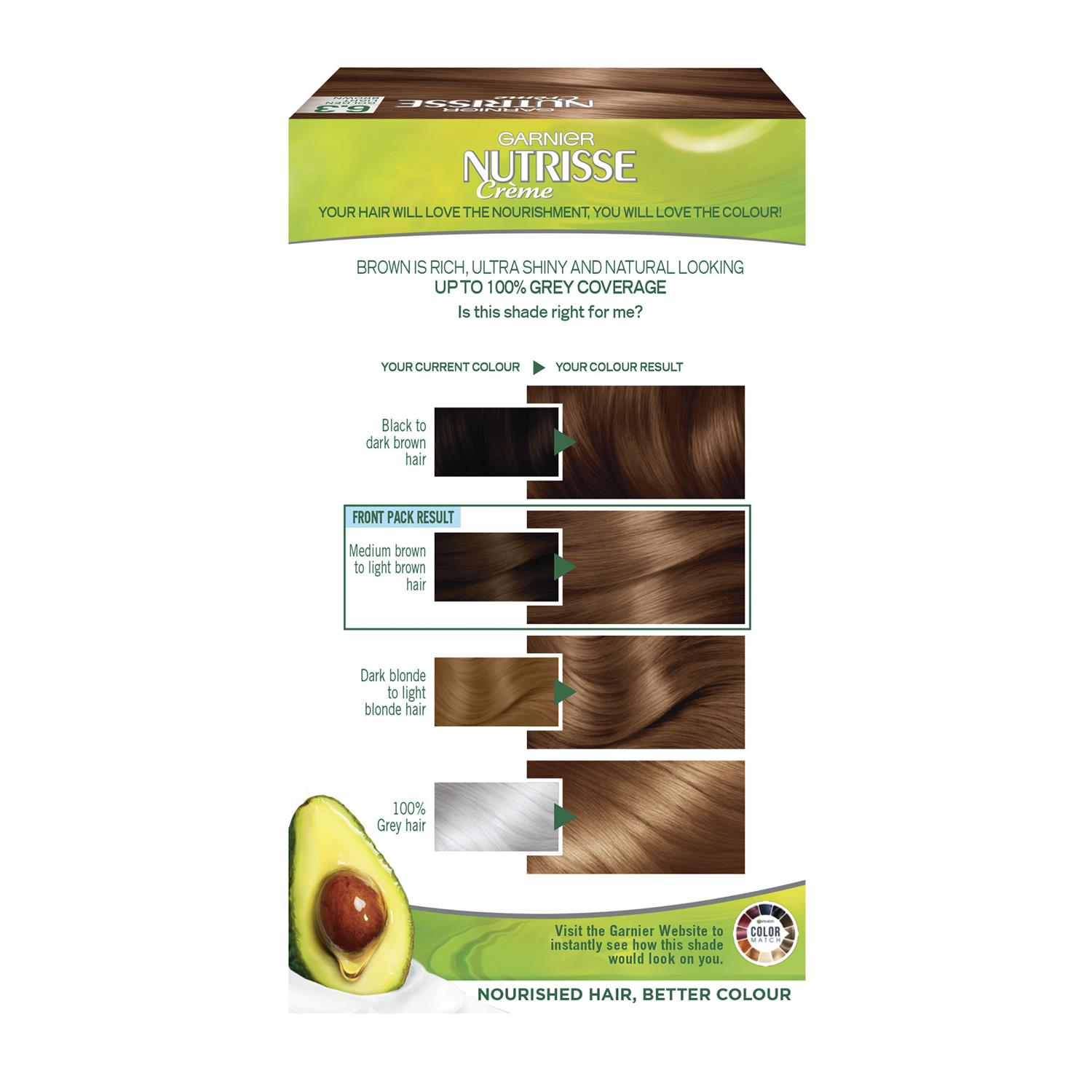 thumbnail 178 - 3 Pack Garnier Nutrisse Permanent Hair Dye With Different Shades