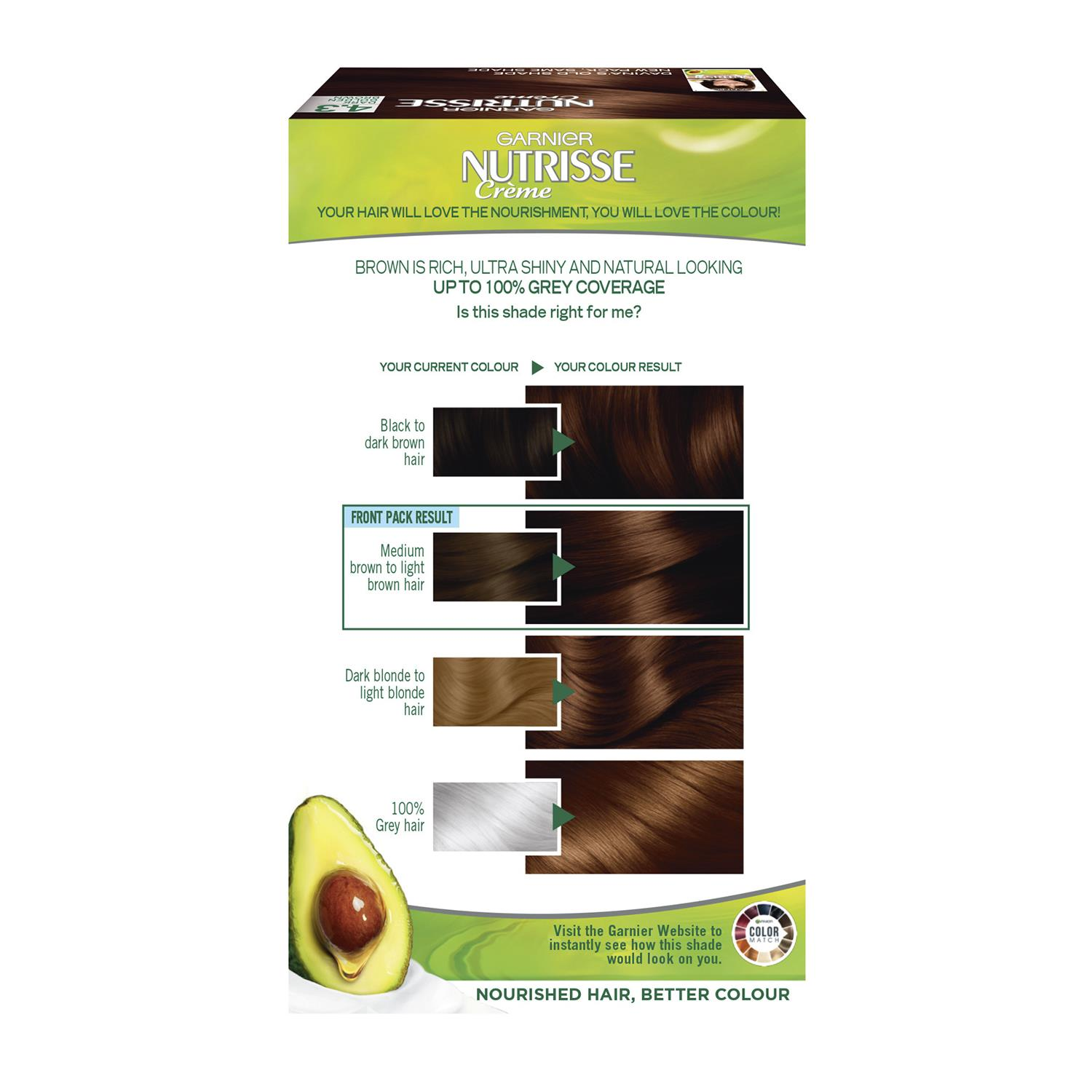 thumbnail 81 - 3 Pack Garnier Nutrisse Permanent Hair Dye With Different Shades