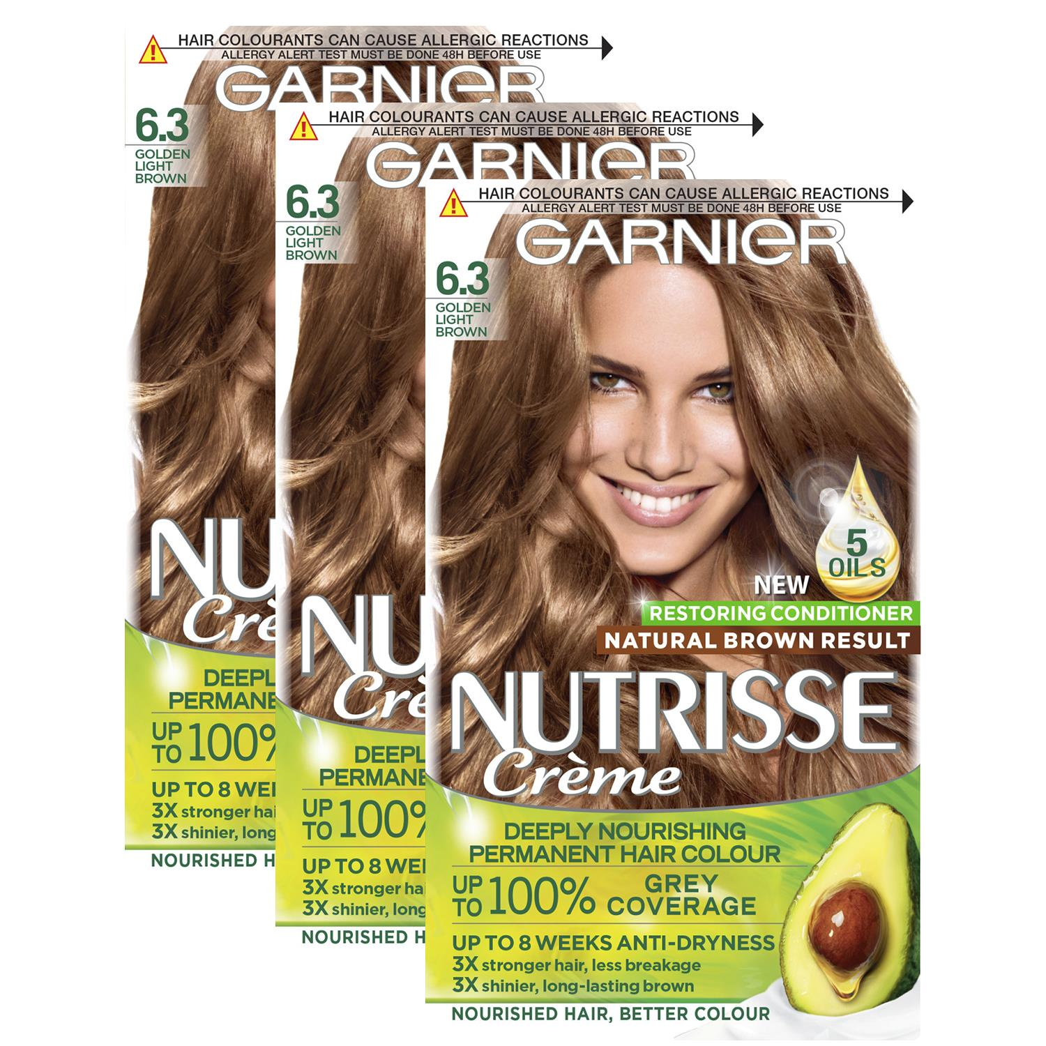 thumbnail 176 - 3 Pack Garnier Nutrisse Permanent Hair Dye With Different Shades