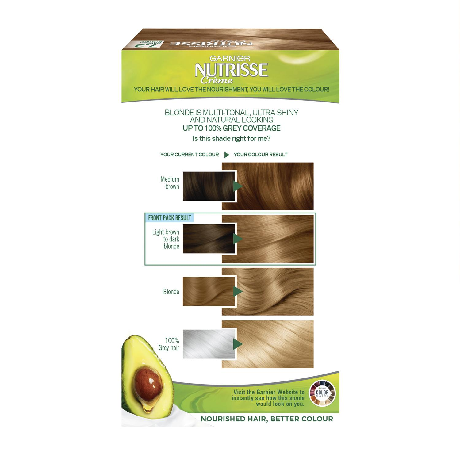 thumbnail 232 - 3 Pack Garnier Nutrisse Permanent Hair Dye With Different Shades