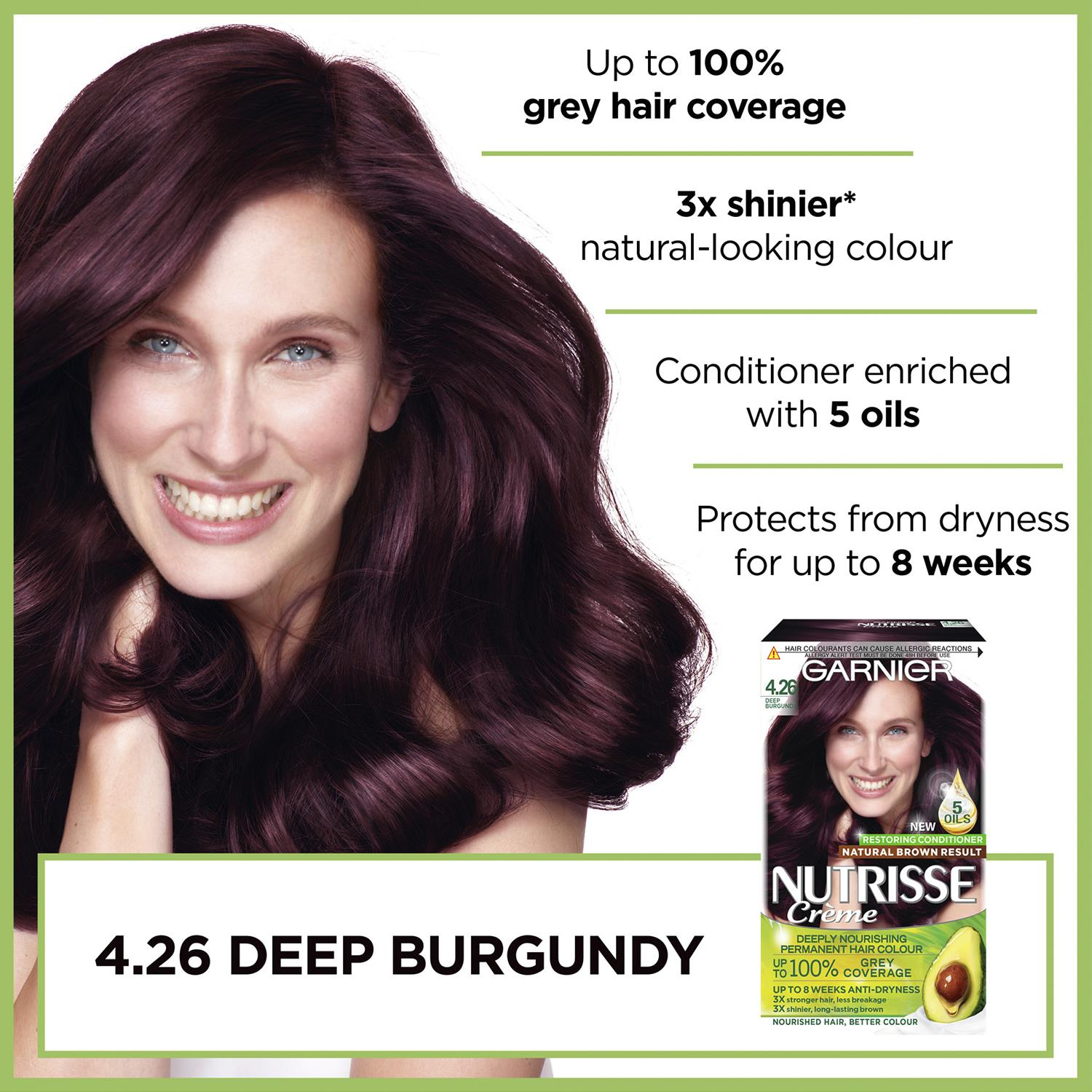 thumbnail 116 - 3 Pack Garnier Nutrisse Permanent Hair Dye With Different Shades
