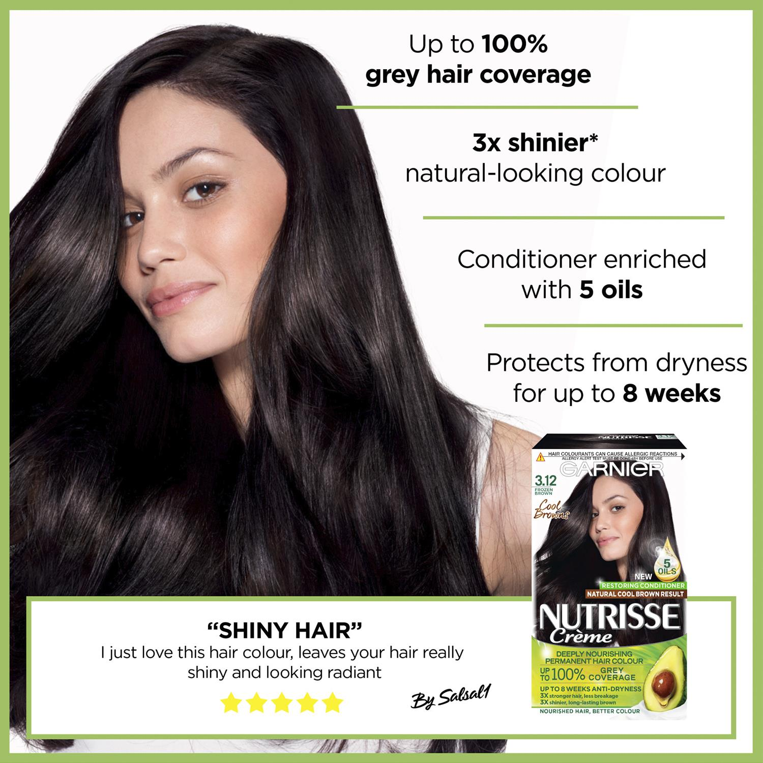thumbnail 52 - 3 Pack Garnier Nutrisse Permanent Hair Dye With Different Shades