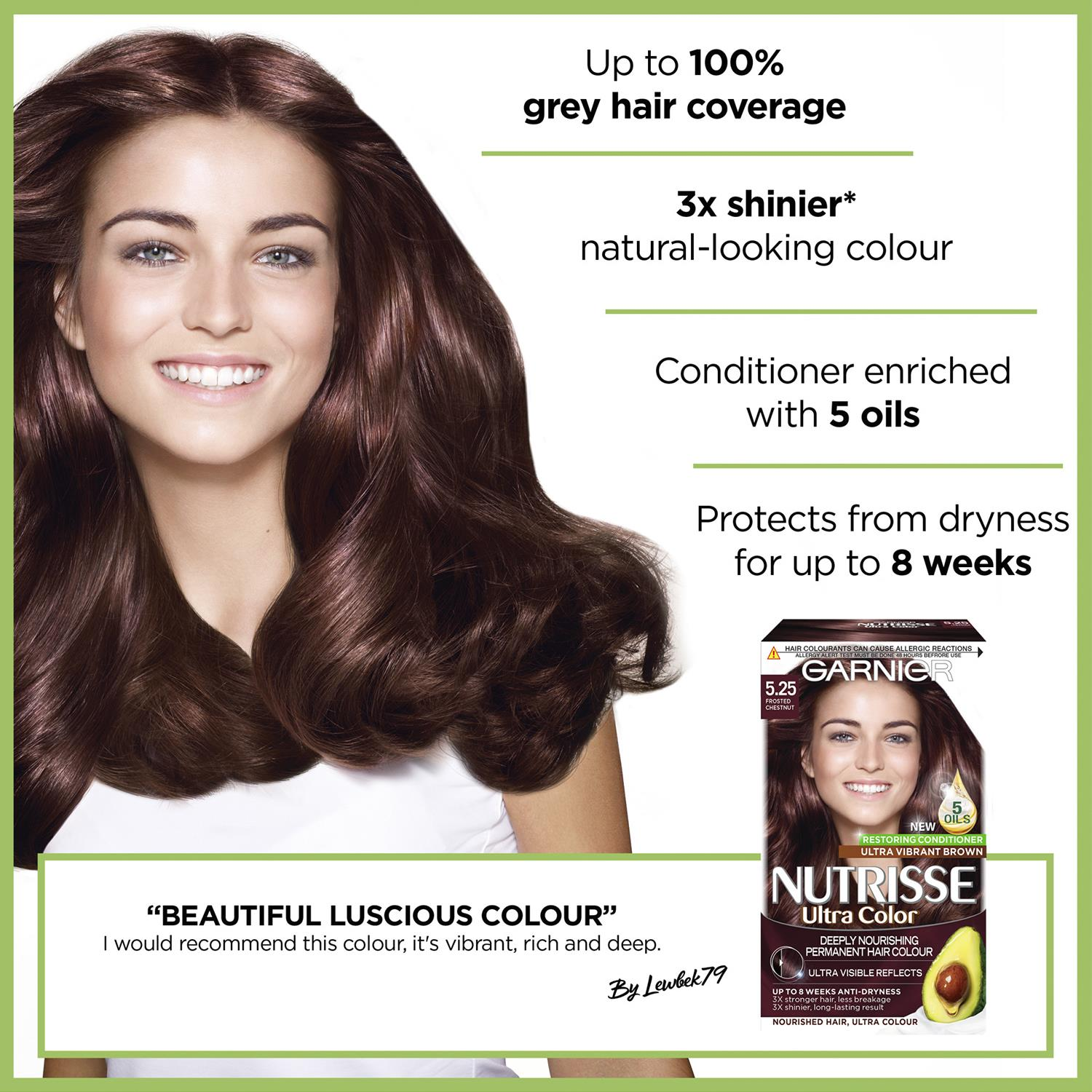 thumbnail 149 - 3 Pack Garnier Nutrisse Permanent Hair Dye With Different Shades