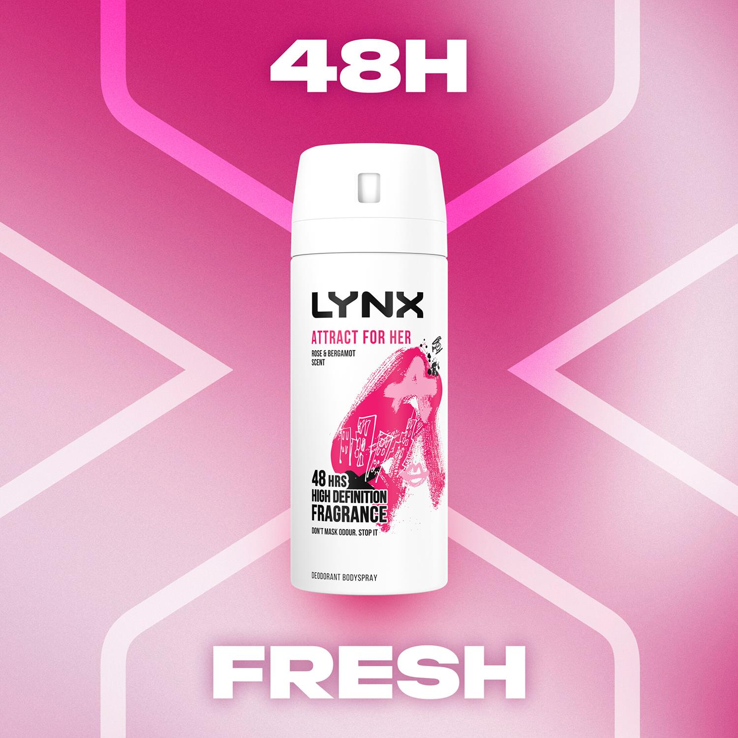 thumbnail 40 - Lynx Attract for Her Bodyspray & Bodywash with Wireless Ear Buds 4pcs Gift Set