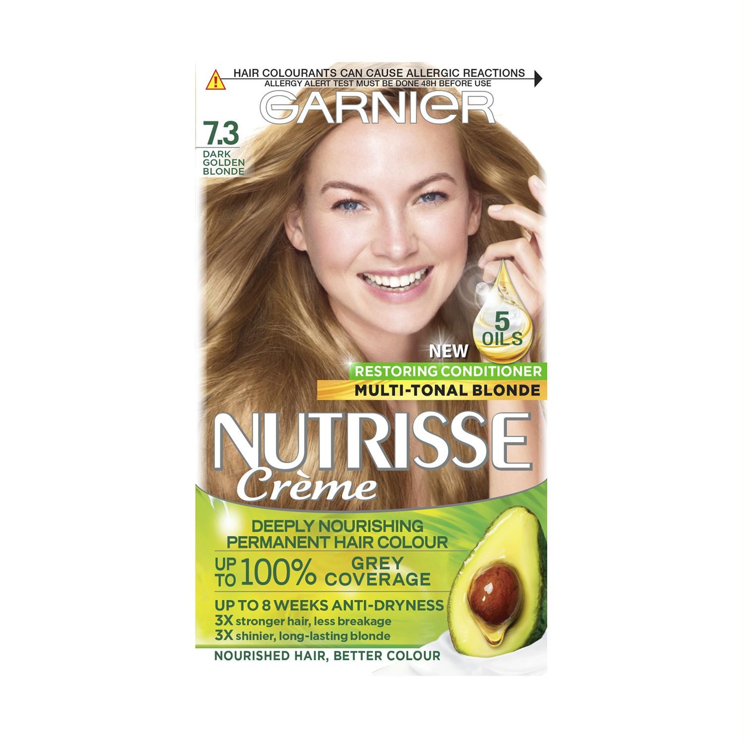 thumbnail 231 - 3 Pack Garnier Nutrisse Permanent Hair Dye With Different Shades