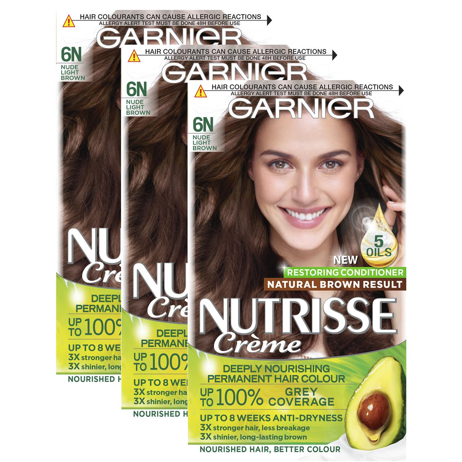 thumbnail 214 - 3 Pack Garnier Nutrisse Permanent Hair Dye With Different Shades