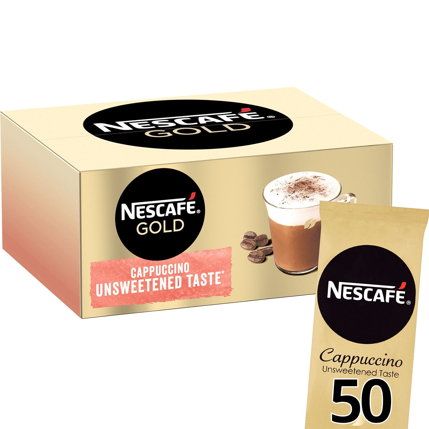 thumbnail 16 - Nescafe Gold Instant Coffee Sachets 40 Latte or 50 Unsweetened Cappuccino