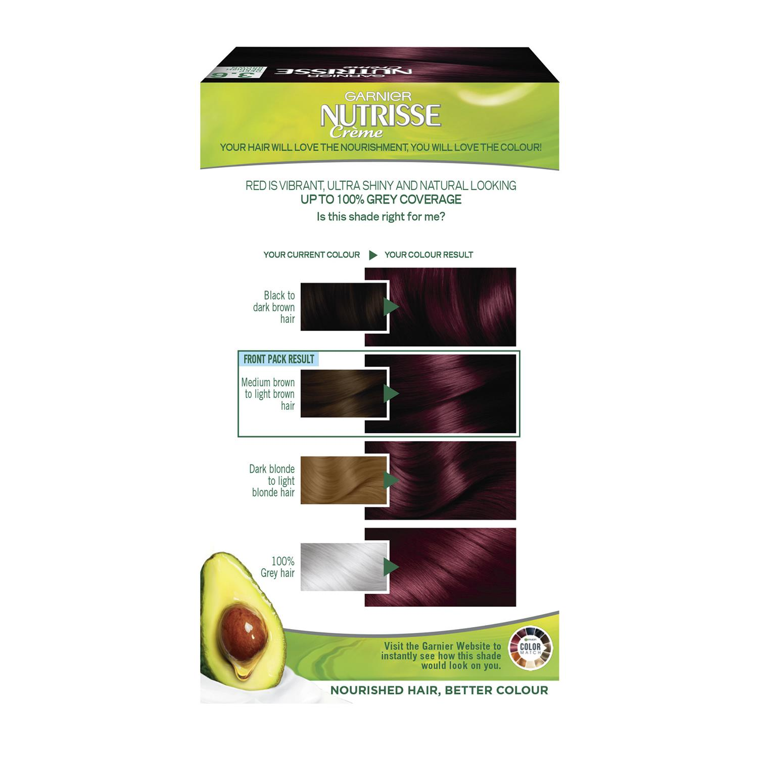 thumbnail 41 - 3 Pack Garnier Nutrisse Permanent Hair Dye With Different Shades