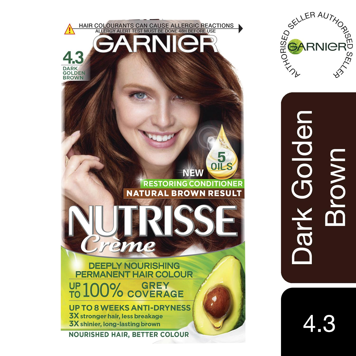 thumbnail 78 - 3 Pack Garnier Nutrisse Permanent Hair Dye With Different Shades