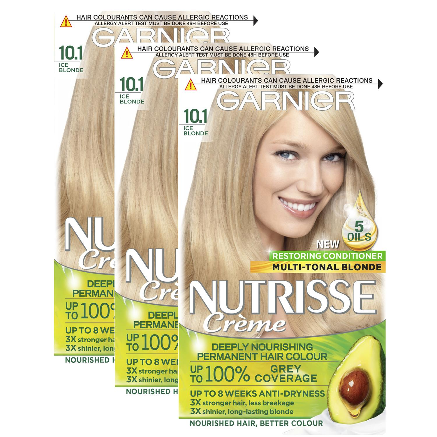 thumbnail 299 - 3 Pack Garnier Nutrisse Permanent Hair Dye With Different Shades