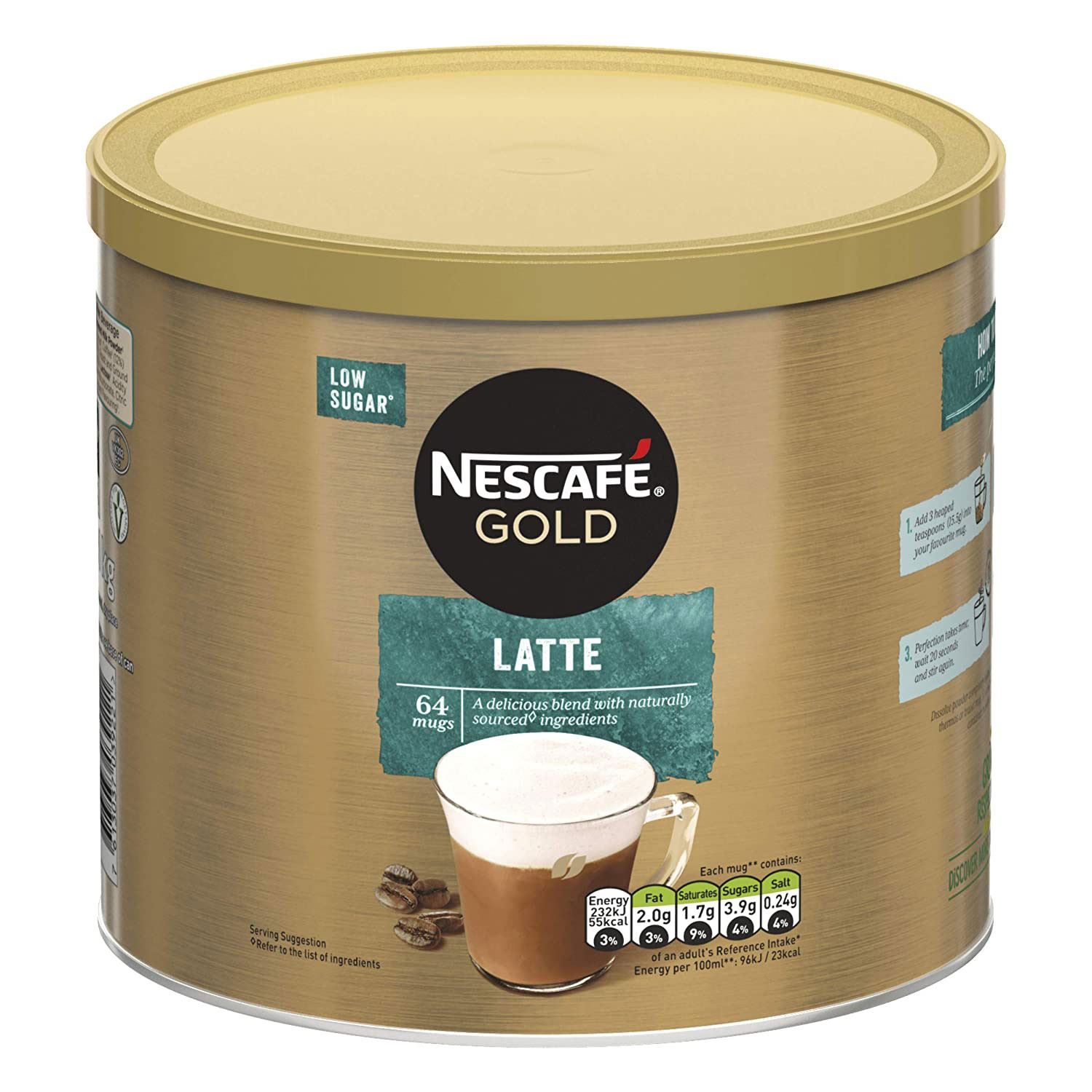 thumbnail 20 - Nescafe Gold Instant Coffee Granules 1kg Cappuccino or Latte, Low Sugar