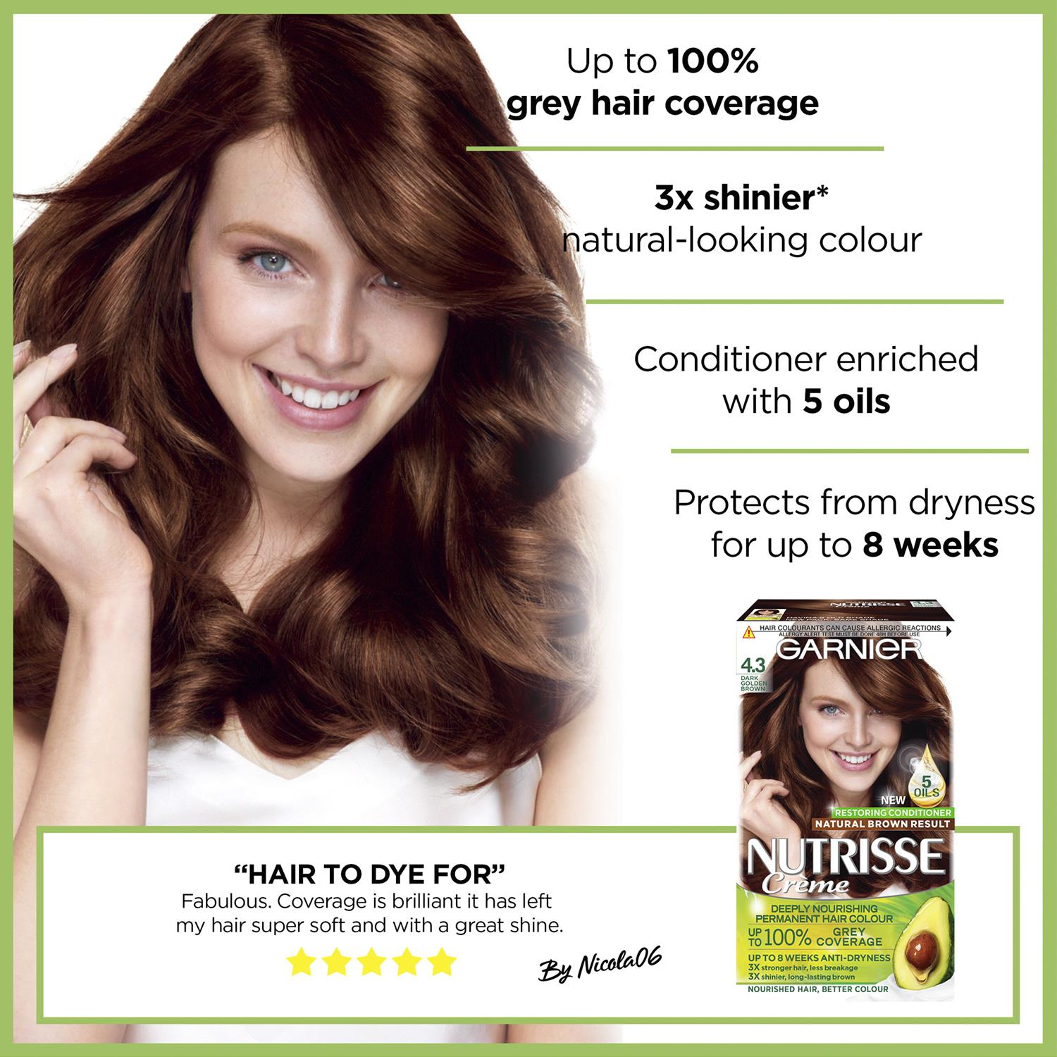 thumbnail 85 - 3 Pack Garnier Nutrisse Permanent Hair Dye With Different Shades