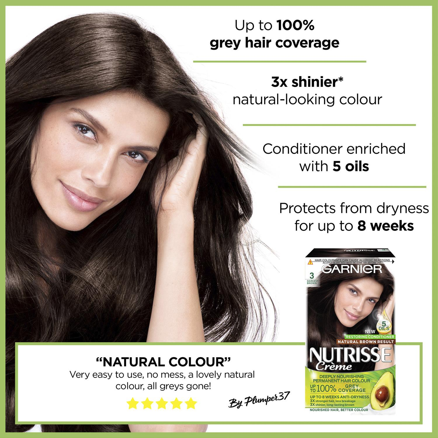 thumbnail 36 - 3 Pack Garnier Nutrisse Permanent Hair Dye With Different Shades
