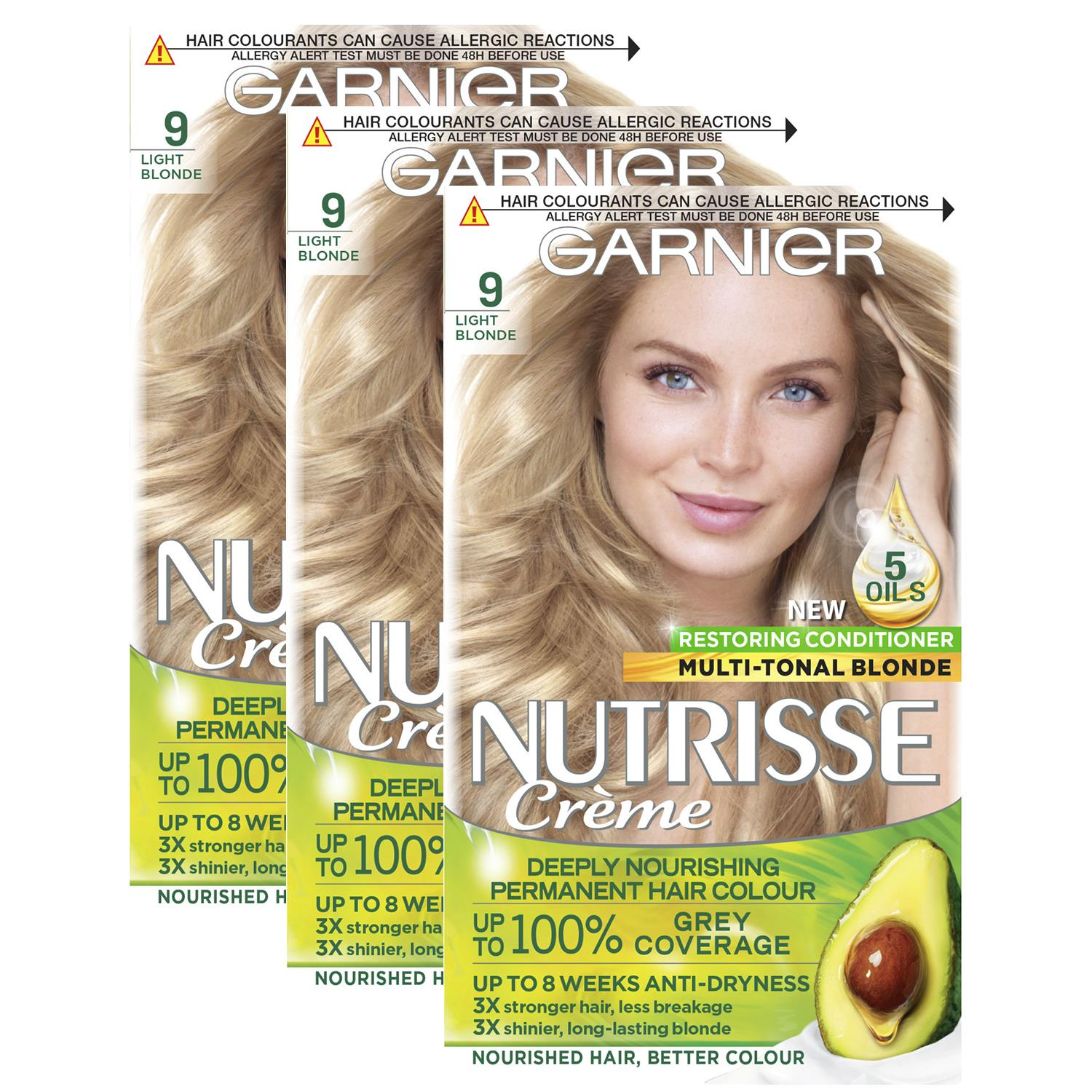 thumbnail 283 - 3 Pack Garnier Nutrisse Permanent Hair Dye With Different Shades
