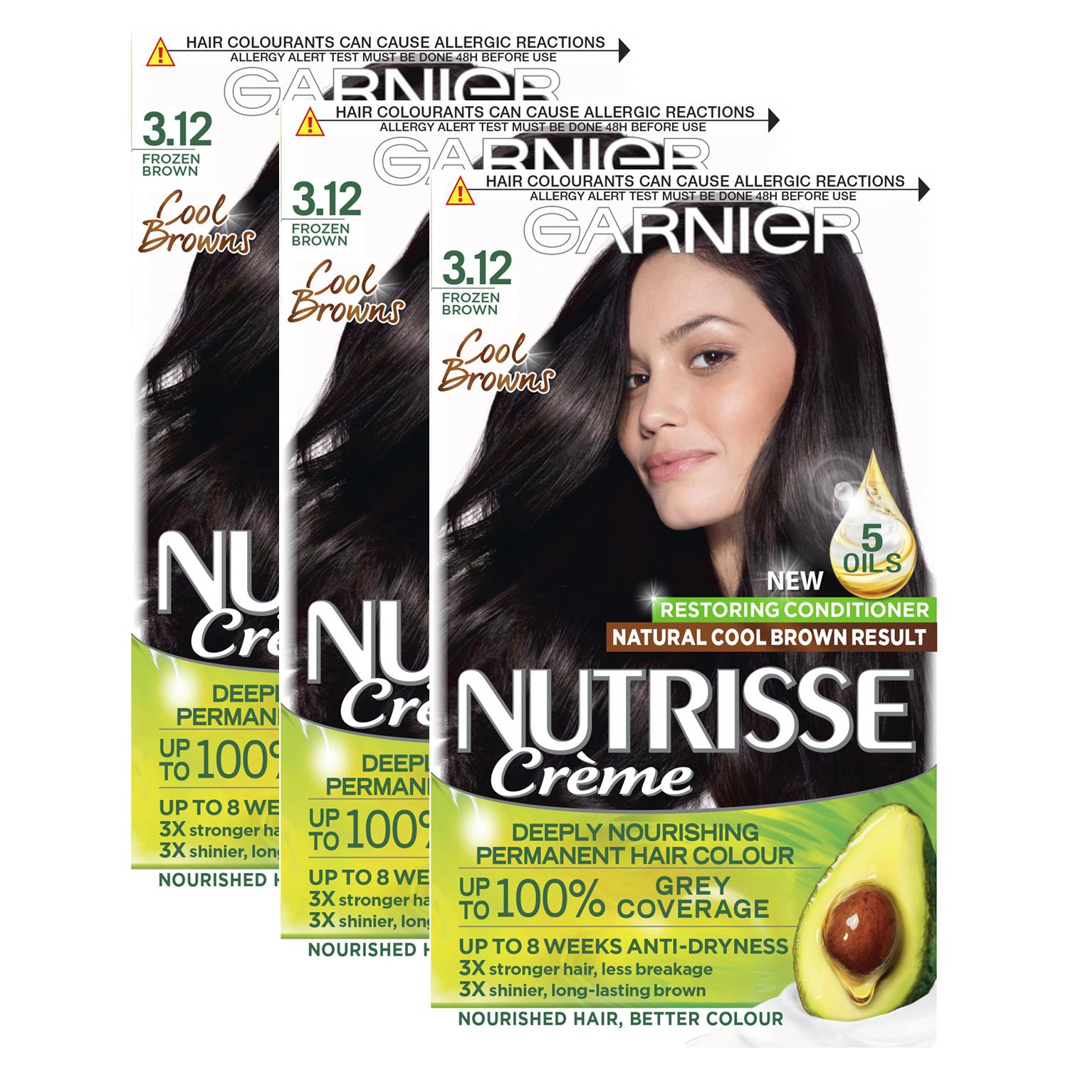 thumbnail 47 - 3 Pack Garnier Nutrisse Permanent Hair Dye With Different Shades