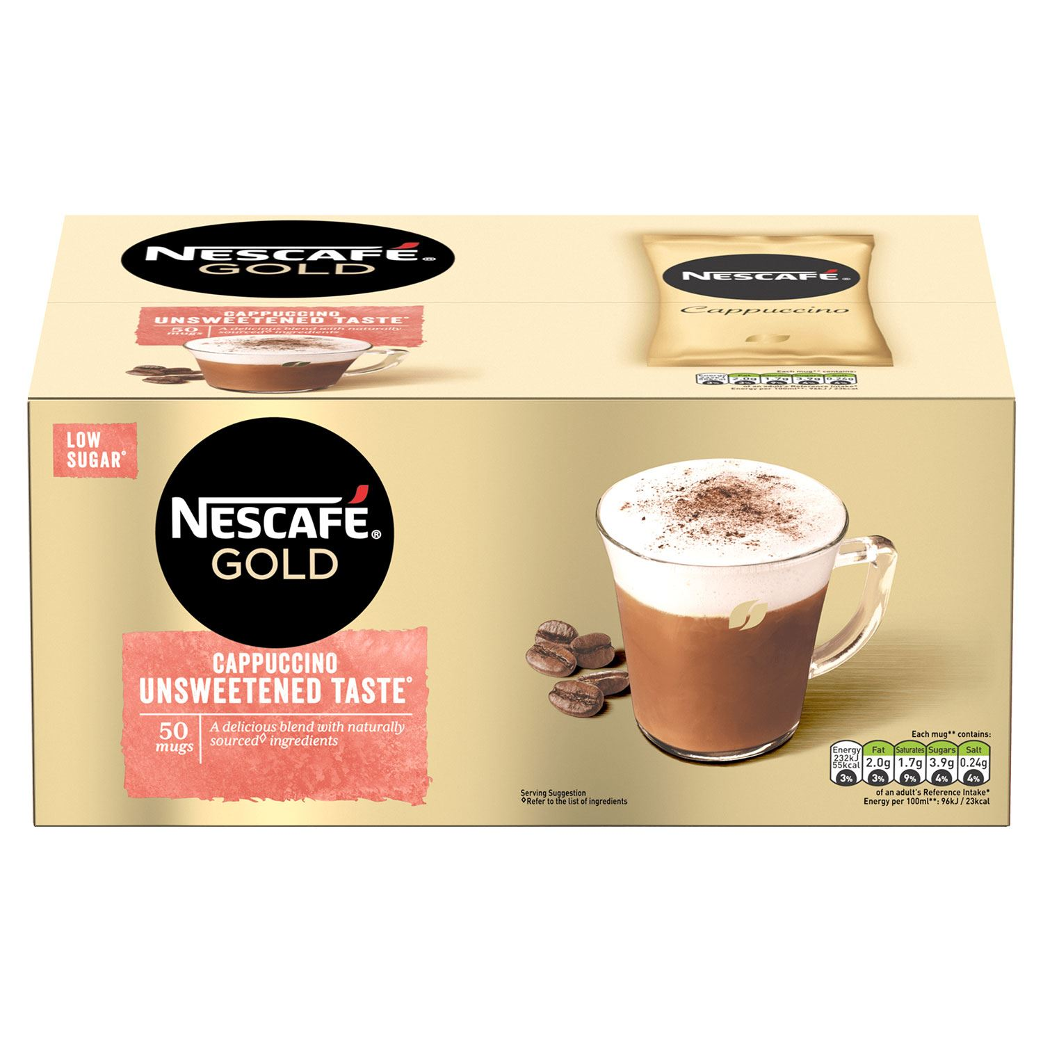 thumbnail 13 - Nescafe Gold Instant Coffee Sachets 40 Latte or 50 Unsweetened Cappuccino