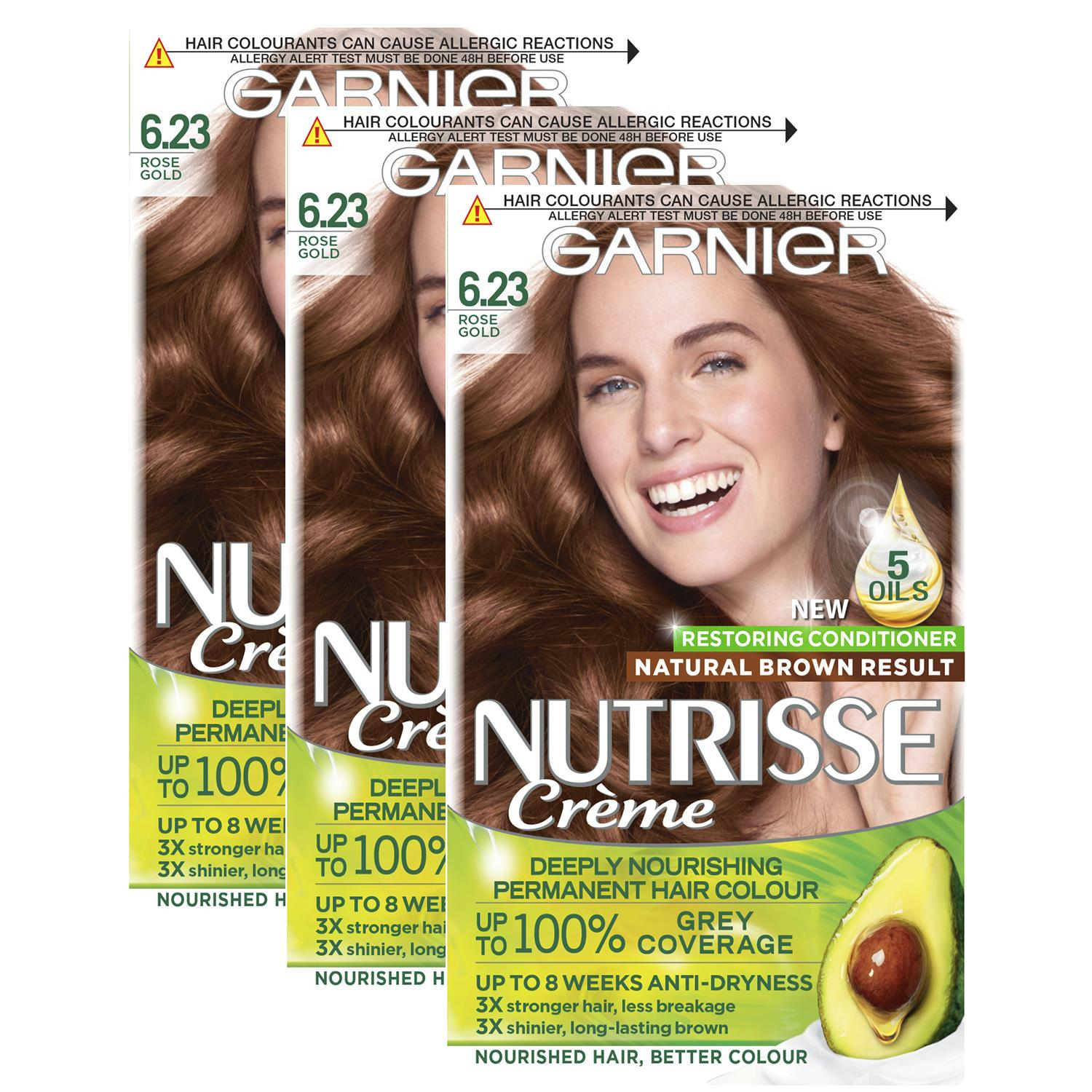 thumbnail 184 - 3 Pack Garnier Nutrisse Permanent Hair Dye With Different Shades