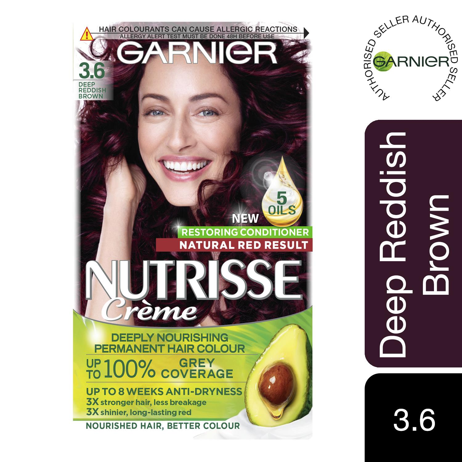 thumbnail 38 - 3 Pack Garnier Nutrisse Permanent Hair Dye With Different Shades