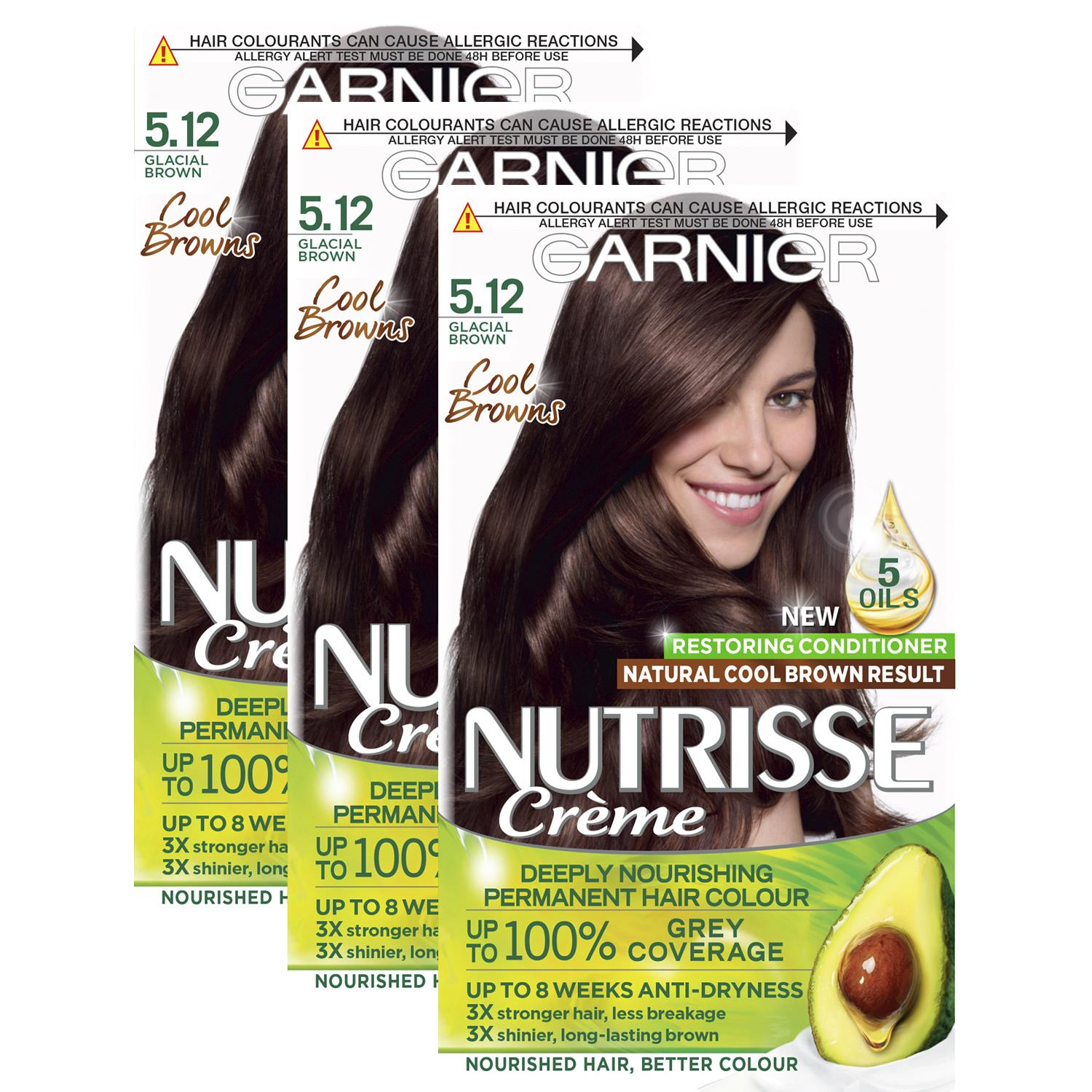 thumbnail 136 - 3 Pack Garnier Nutrisse Permanent Hair Dye With Different Shades